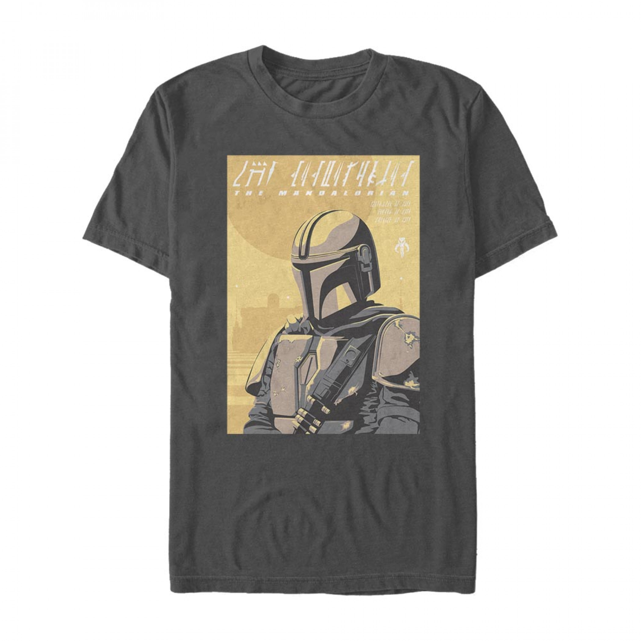 The Mandalorian Bounty Hunter Portrait T-Shirt