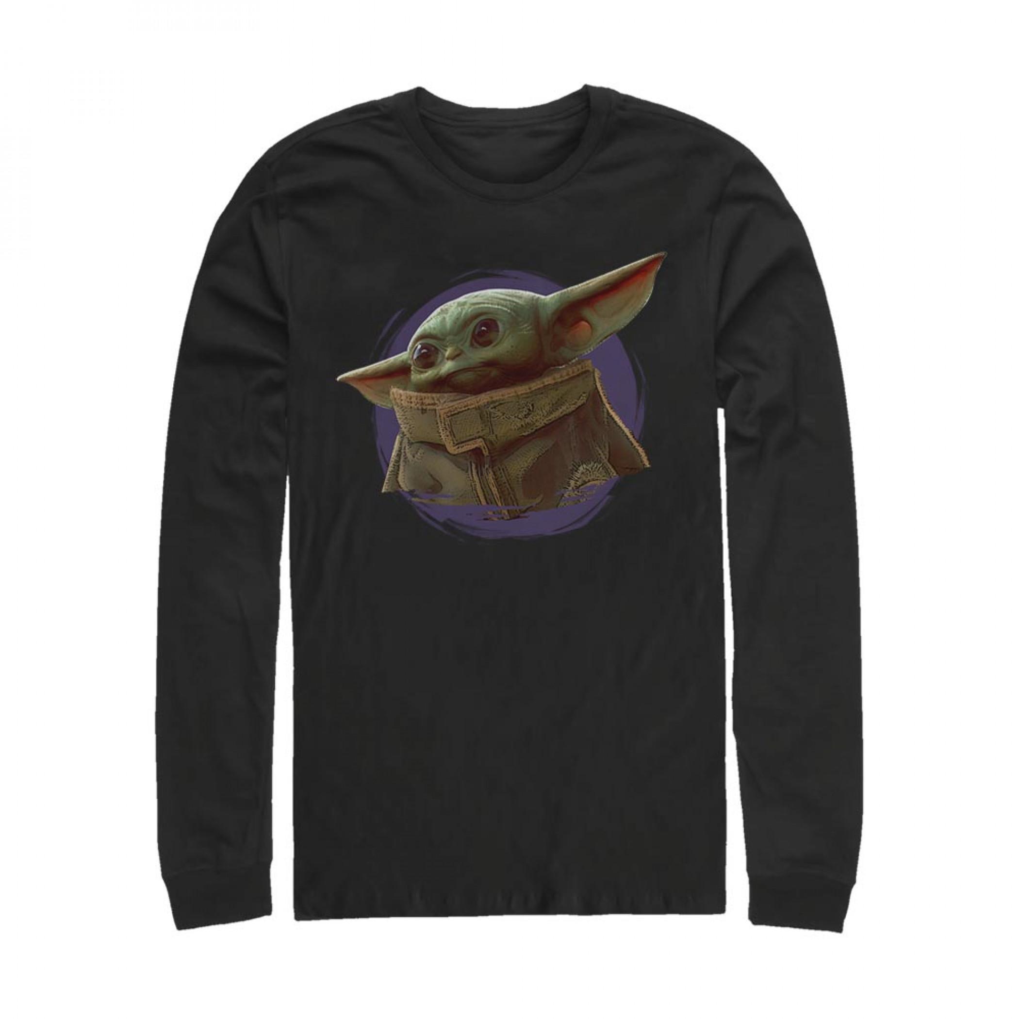 Star Wars The Mandalorian The Child Circle Halo Long Sleeve Shirt