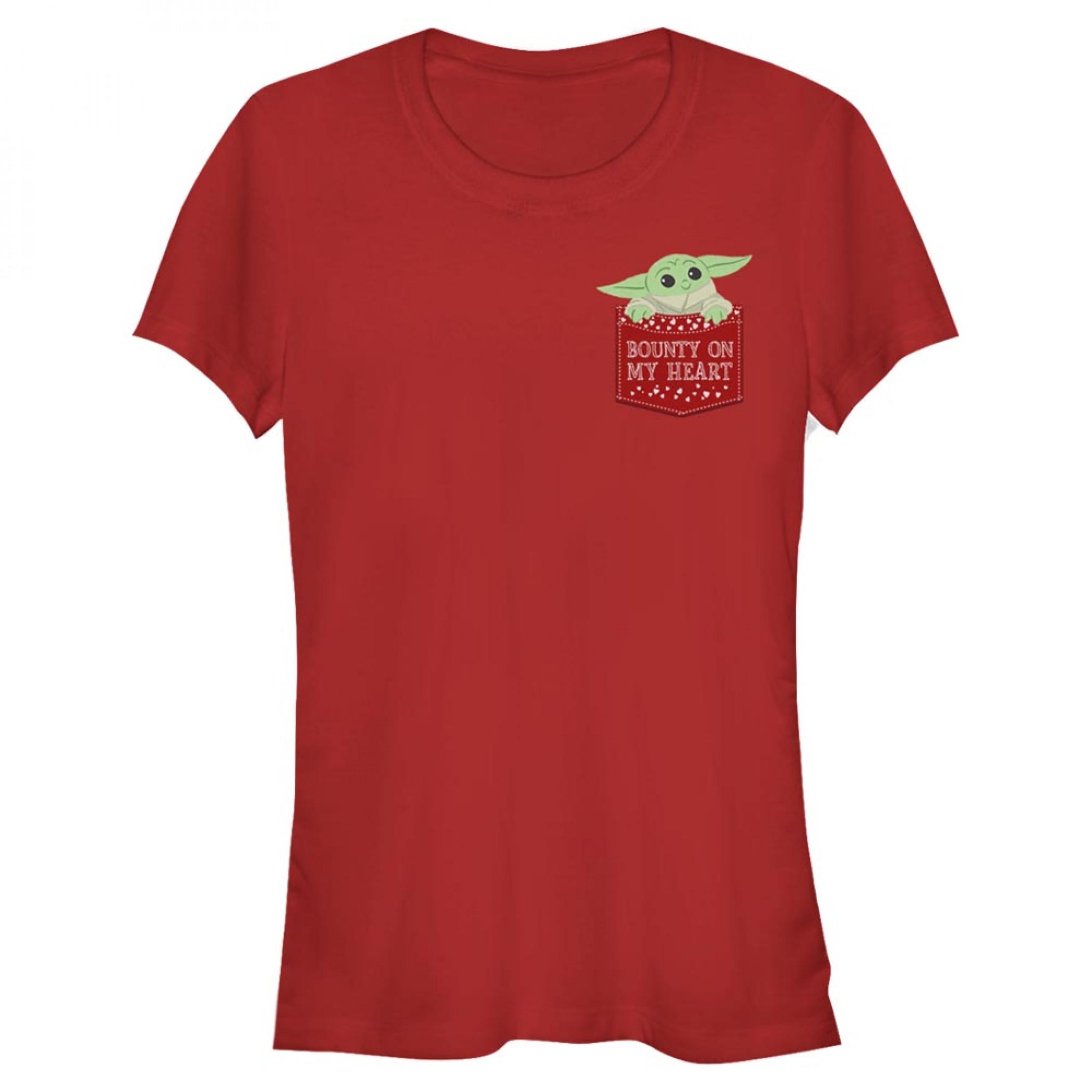The Mandalorian Grogu Bounty On My Heart Women's T-Shirt