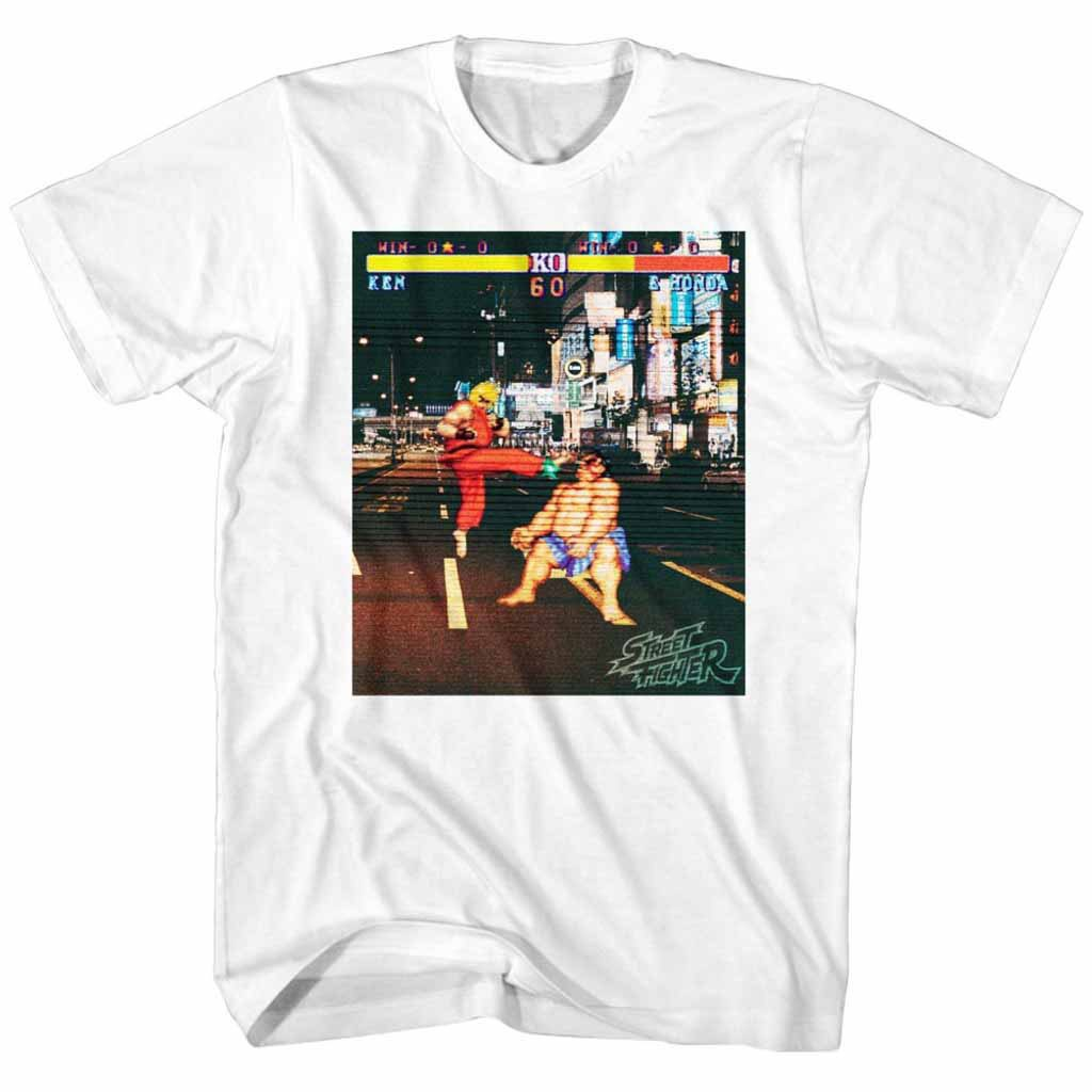 Street Fighter Real Street Fighter White T-Shirt