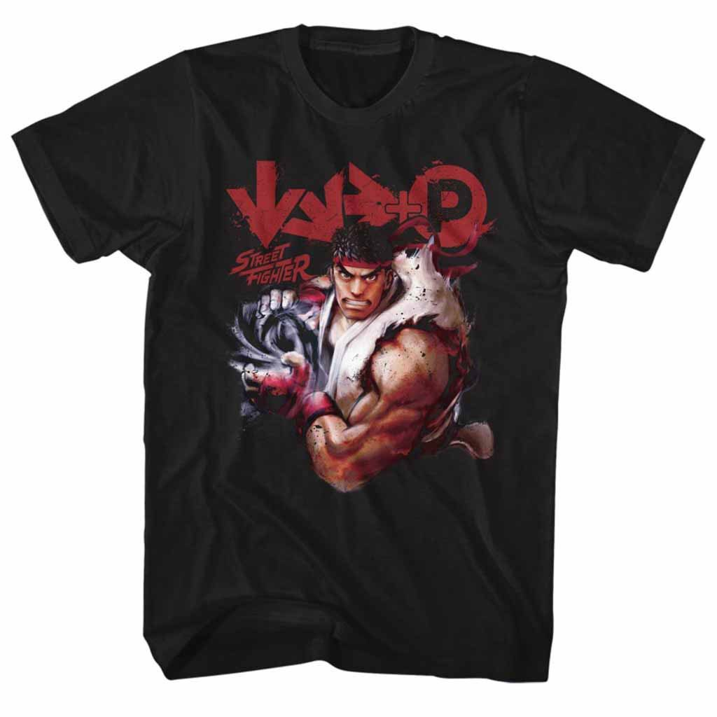 Street Fighter More Black T-Shirt