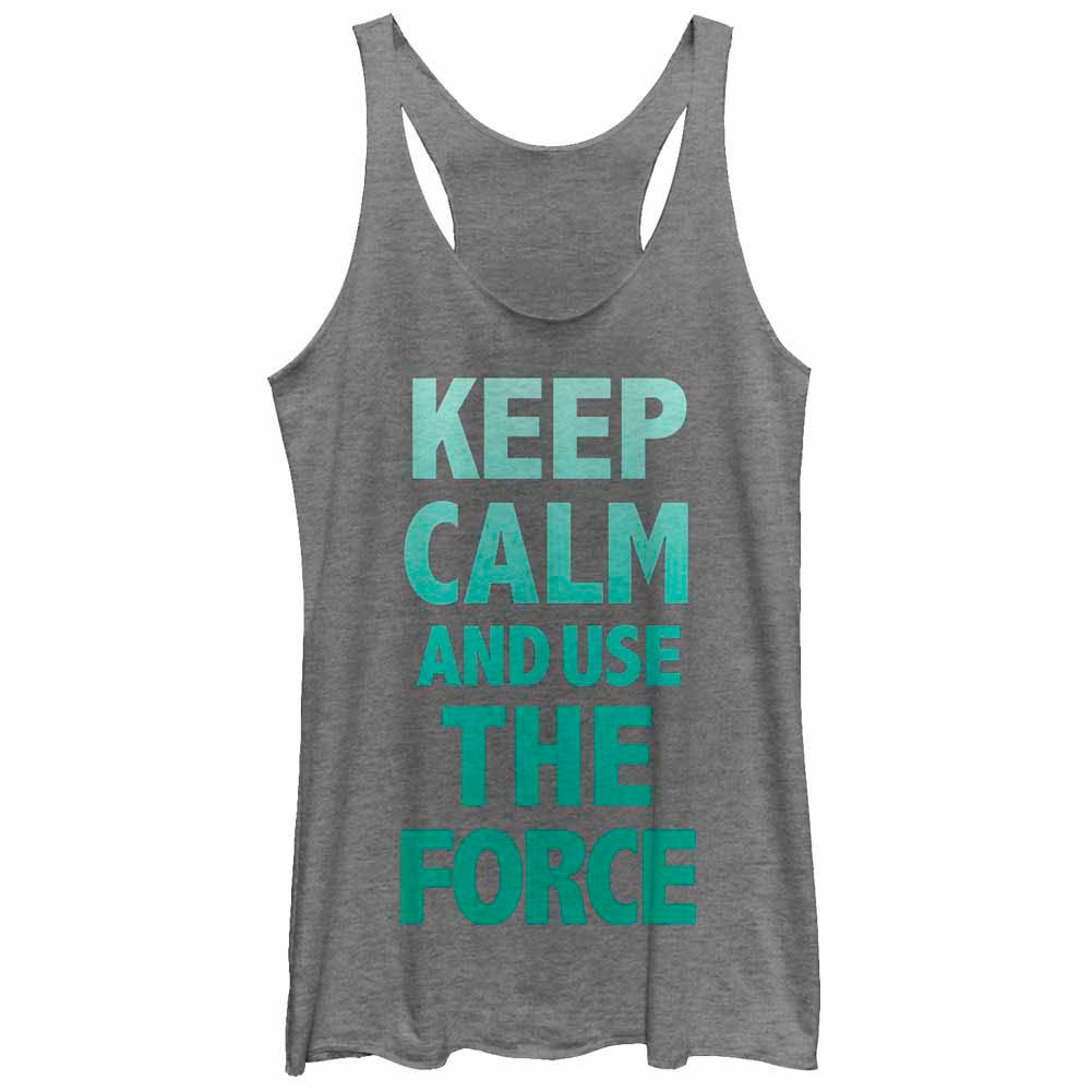 Star Wars Keep Force Gray  Juniors Tank Top