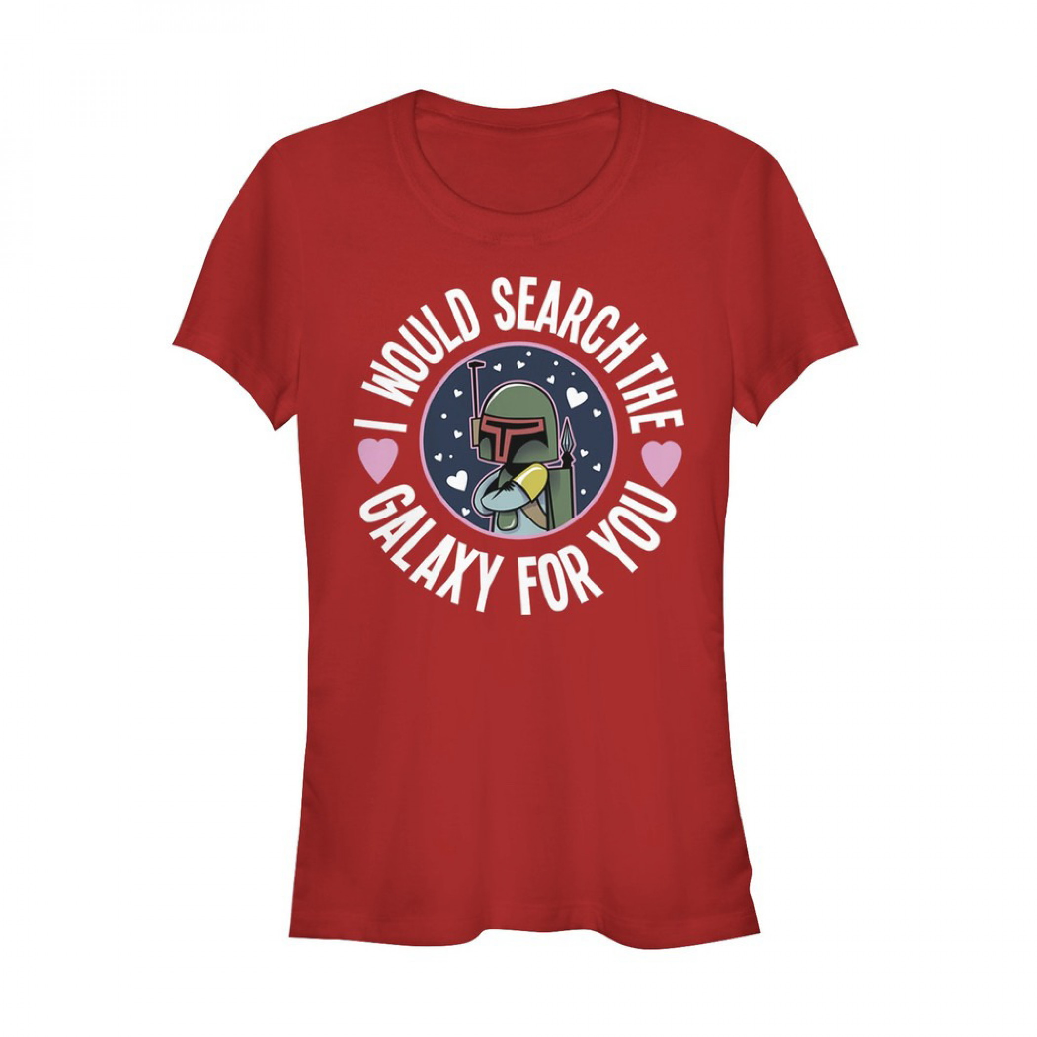 Valentine's Star Wars Boba Fett Search the Galaxy Women's T-Shirt