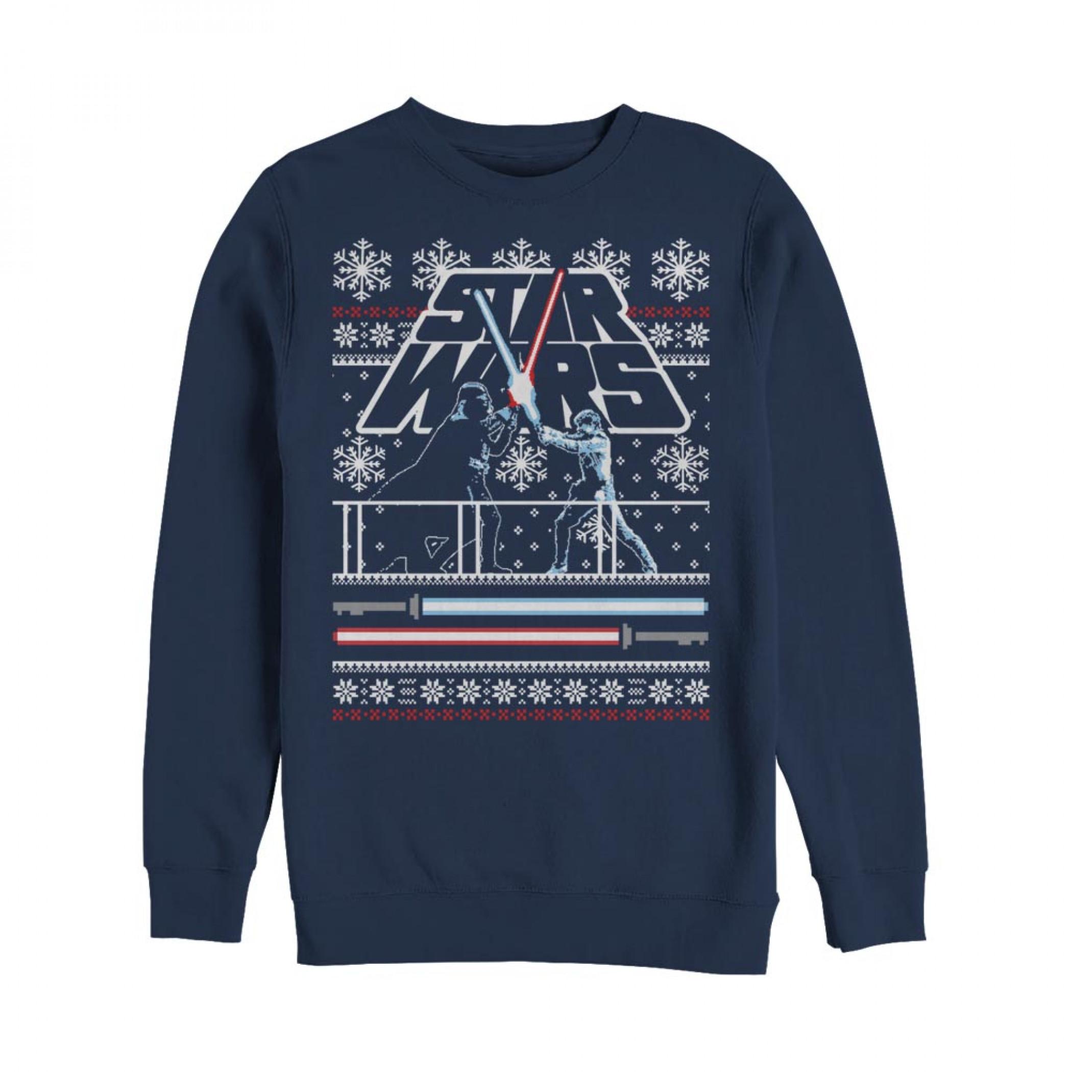 Star Wars Father and Son Memories Ugly Christmas Sweatshirt