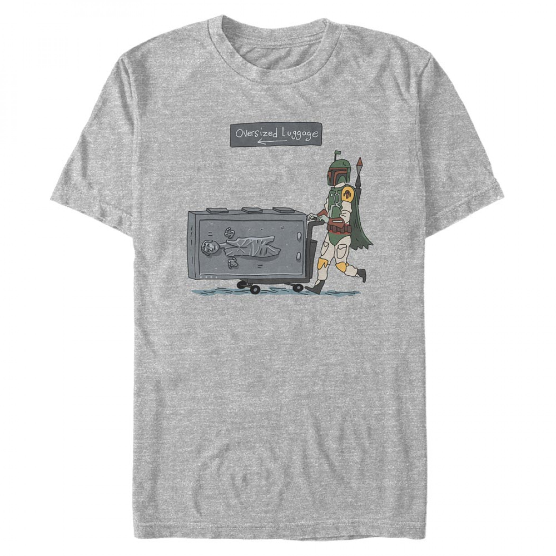 Star Wars Boba Fett Oversized Luggage T-Shirt