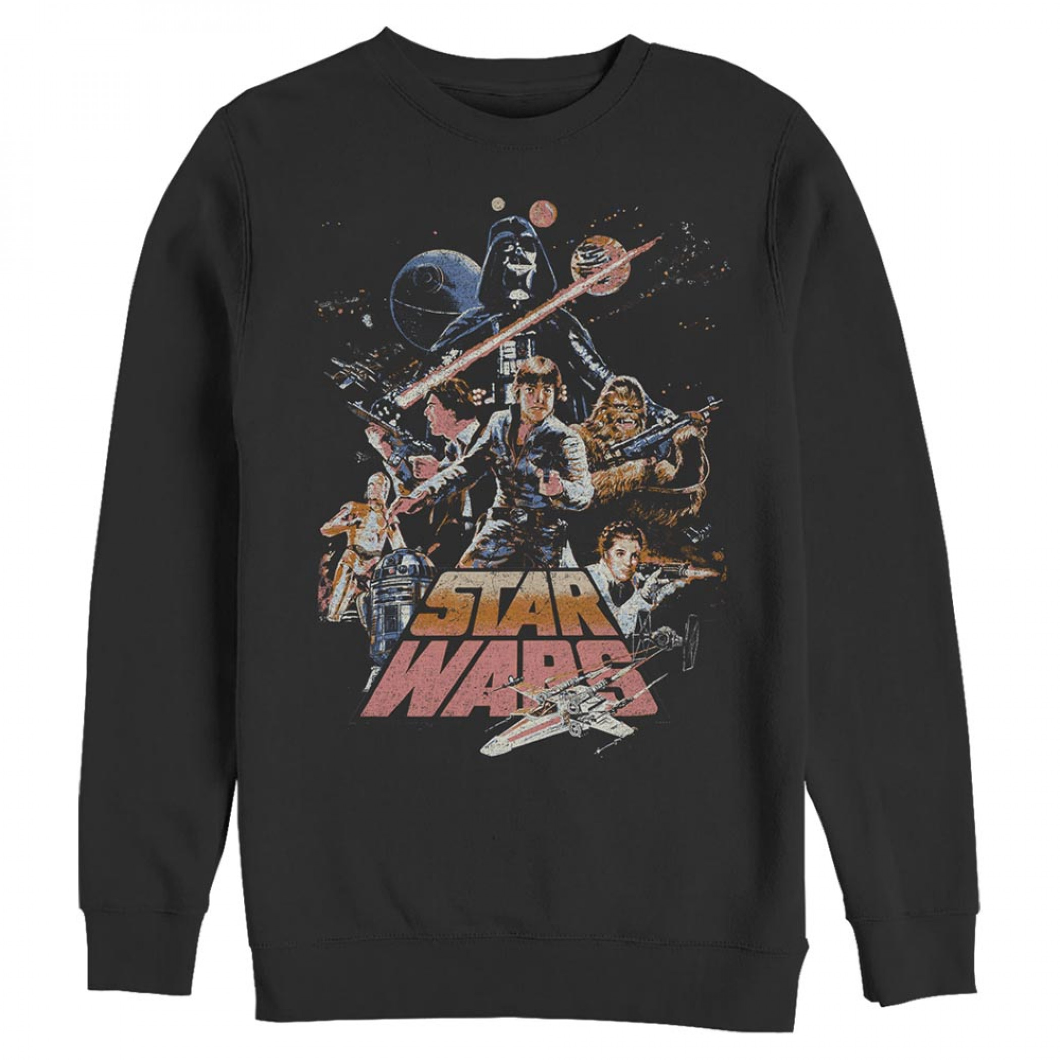 Star Wars Retro Poster Crewneck Sweatshirt