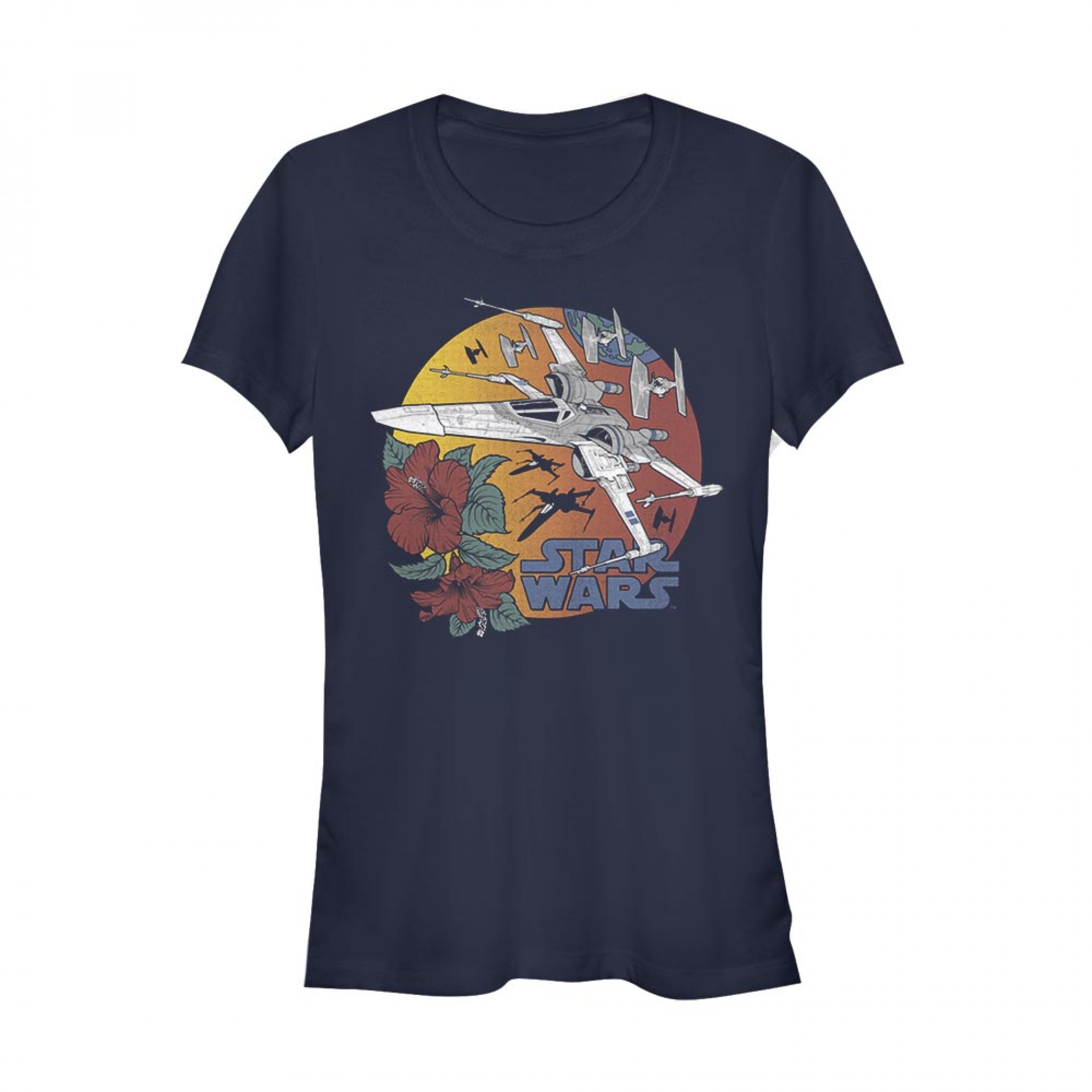 Star Wars X-Wing Women's Blue T-Shirt