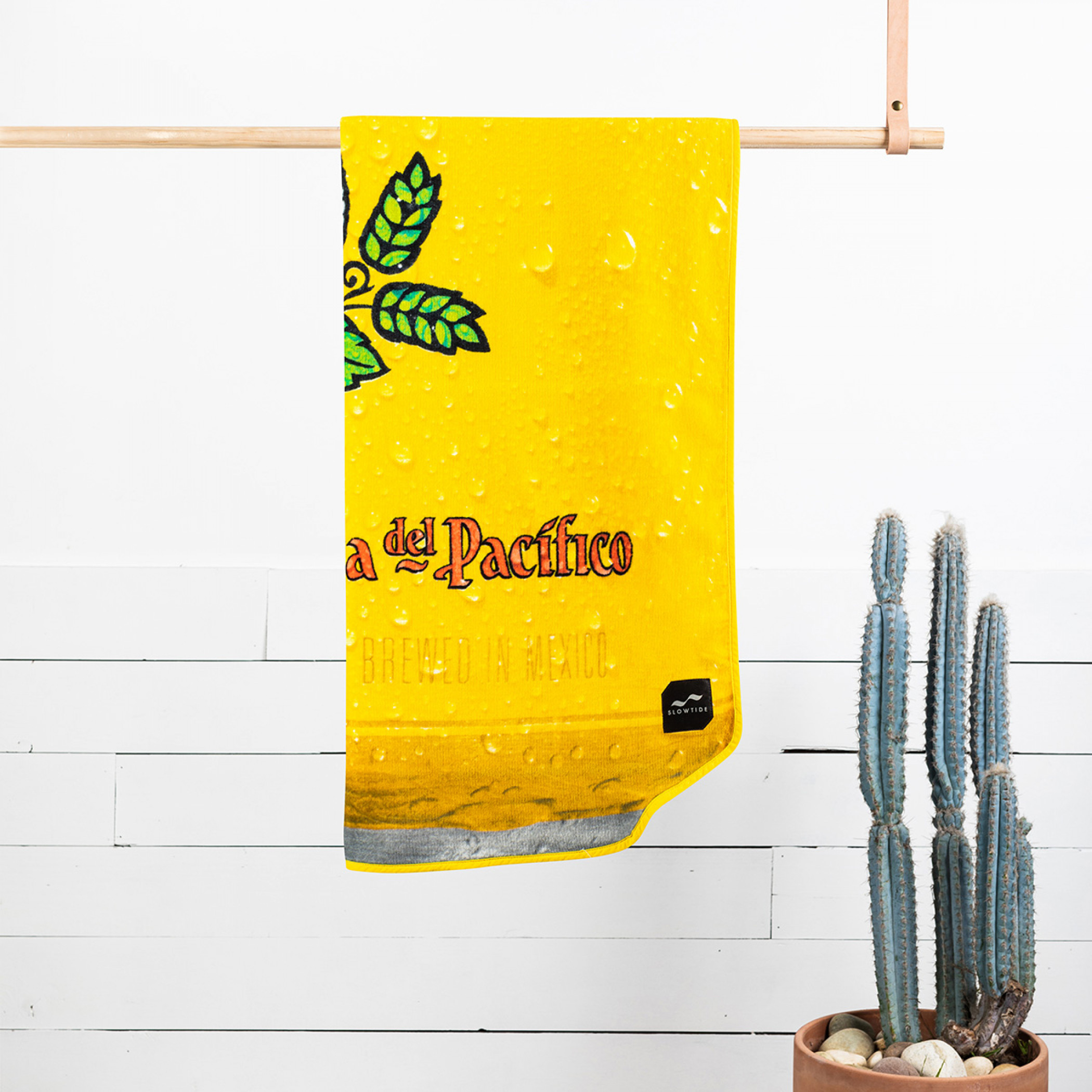 Pacifico Yellow Beer Can Shaped Beach Towel