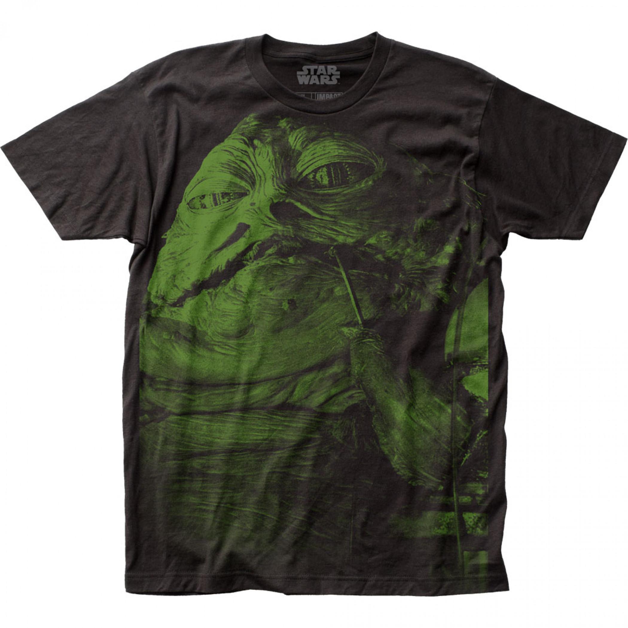 Star Wars Jabba the Hutt Large Subway Print T-Shirt