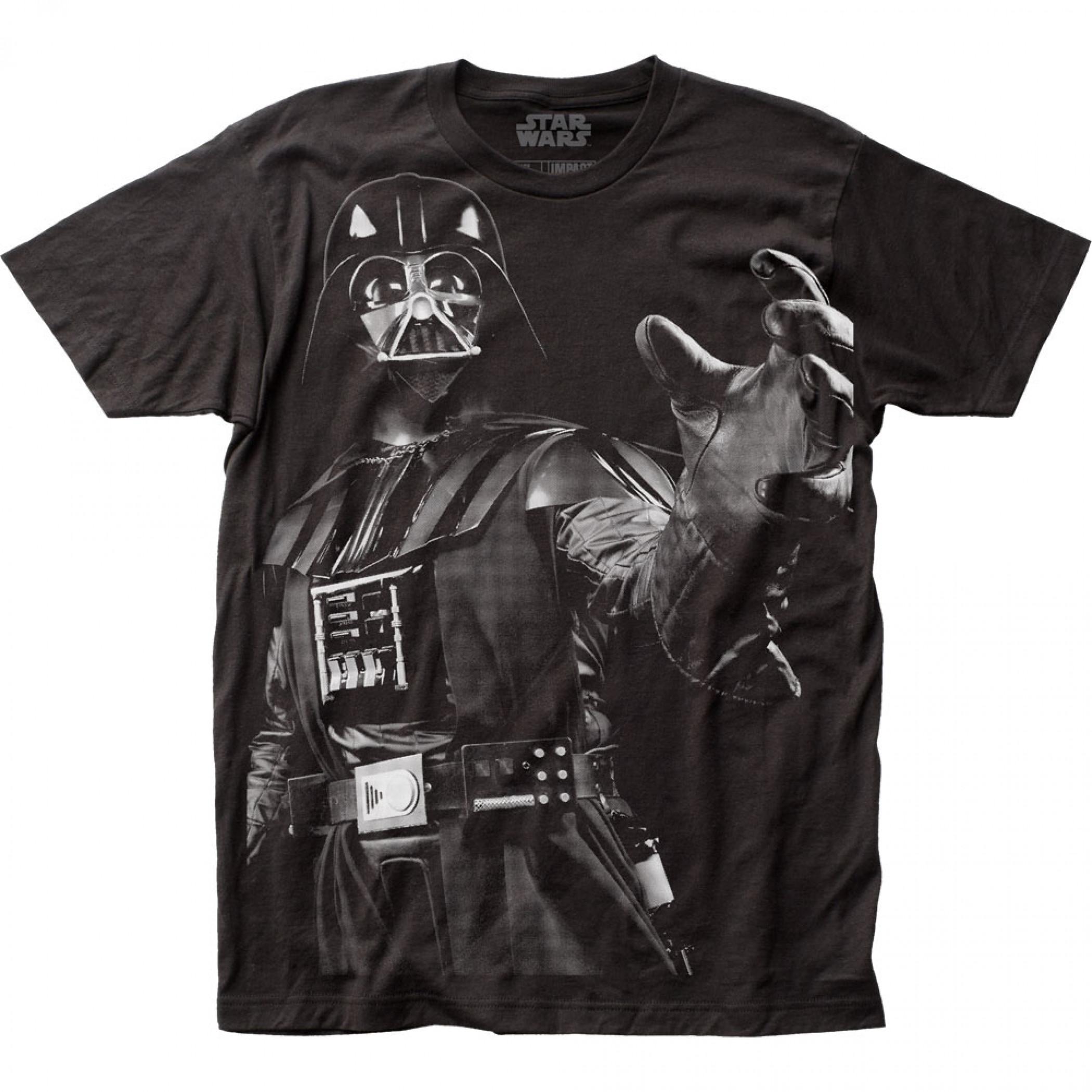 Star Wars Darth Vader Choke Large Subway Print T-Shirt