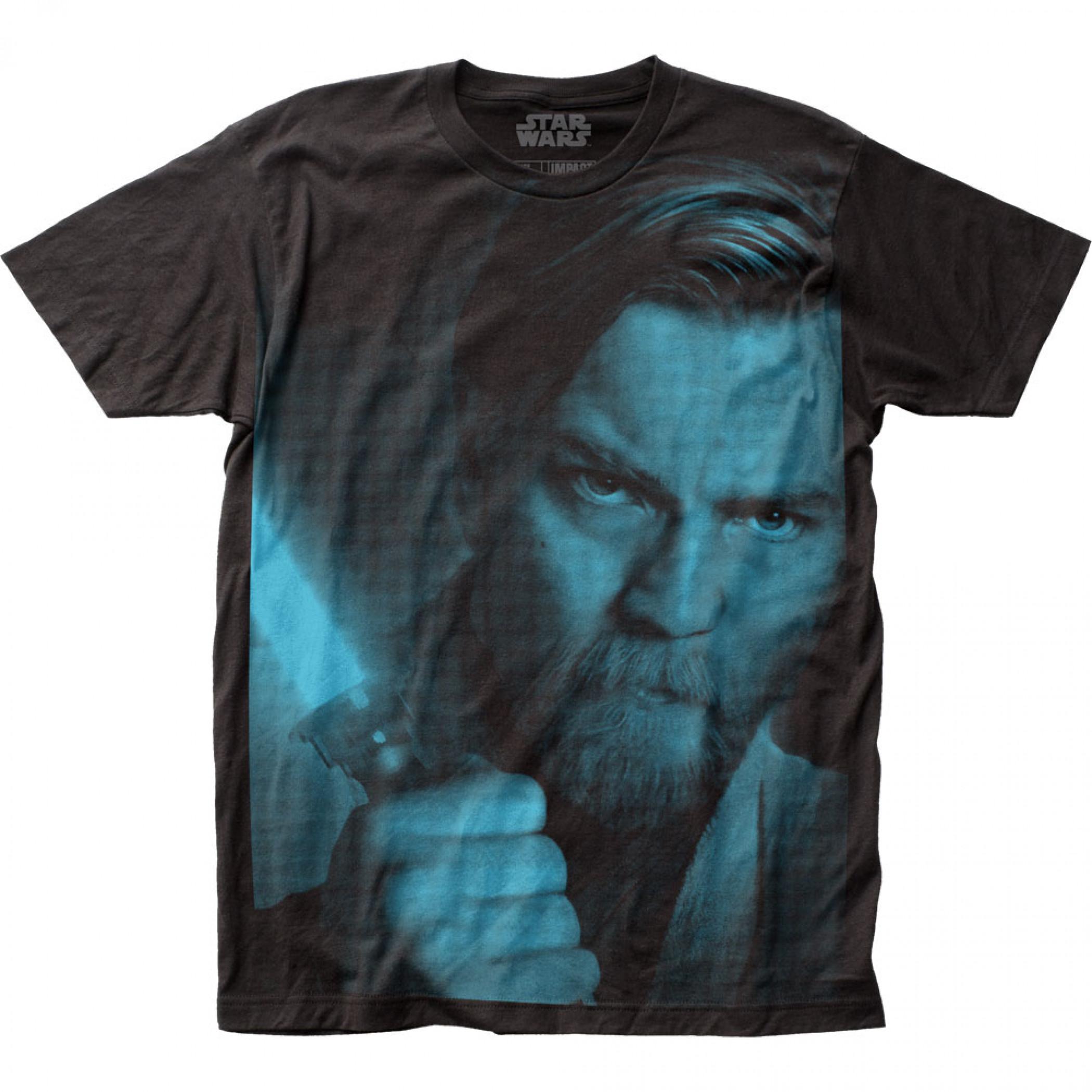 Star Wars Obi-Wan Guarded Large Subway Print T-Shirt