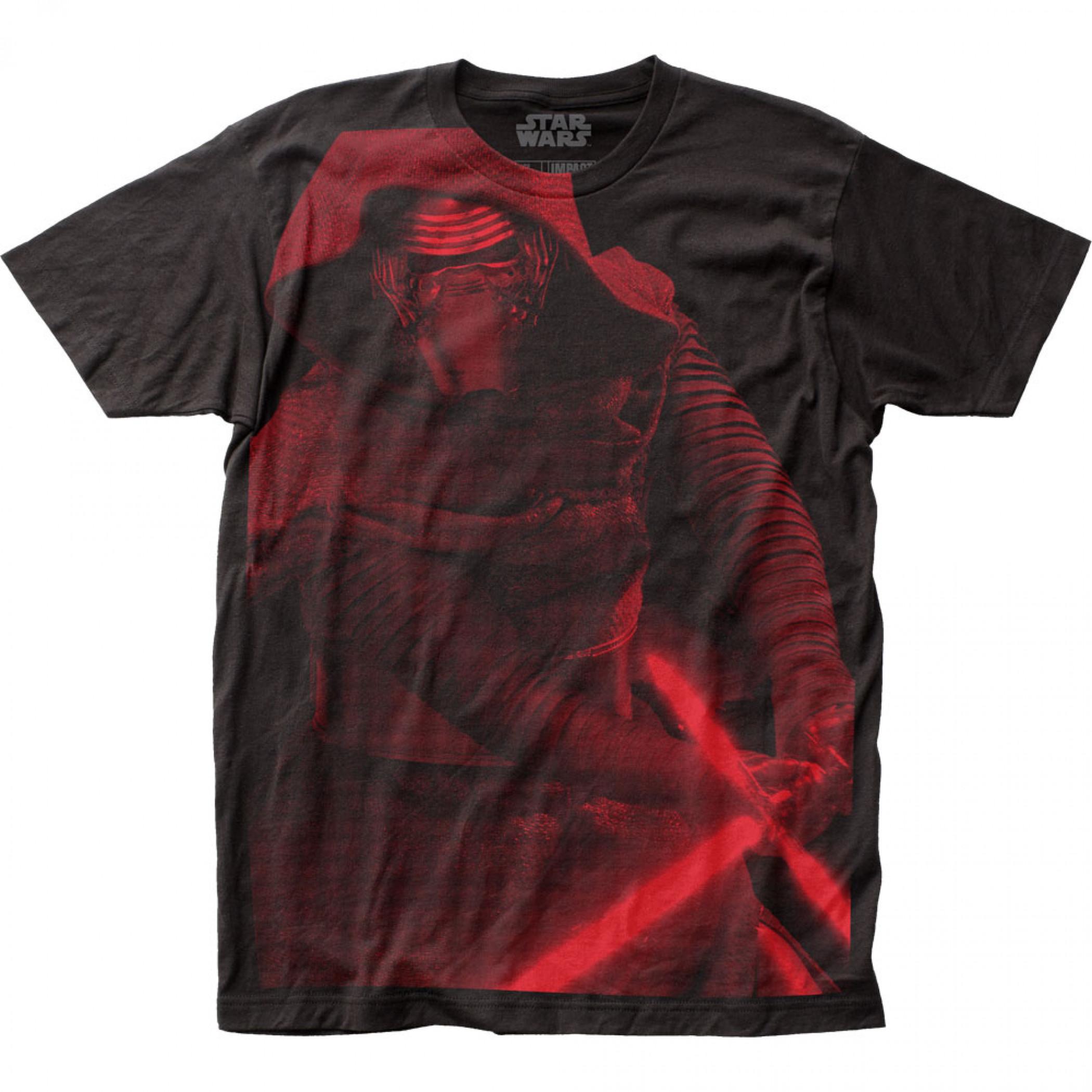 Star Wars Kylo Ren Slash Large Subway Print T-Shirt