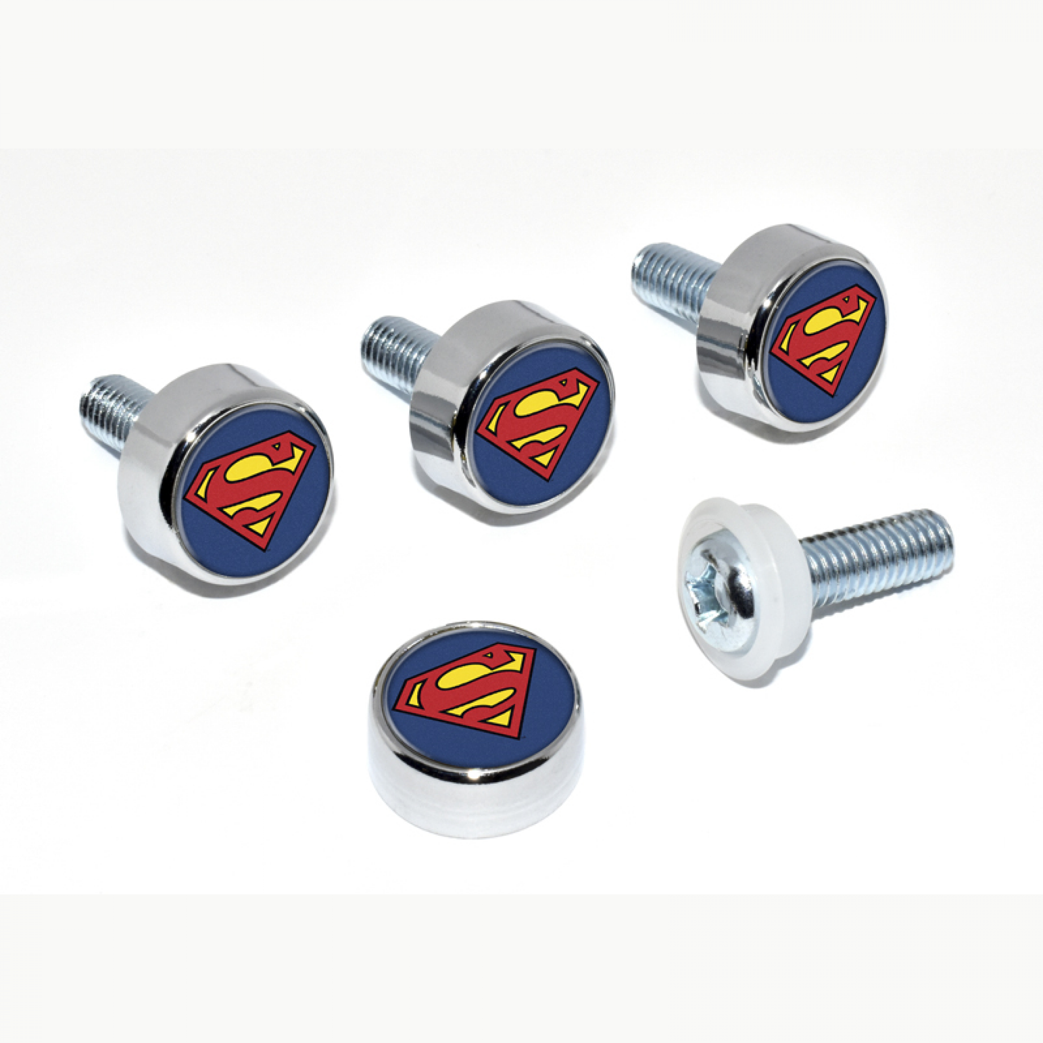 Superman Symbol License Plate Frame Screw Set