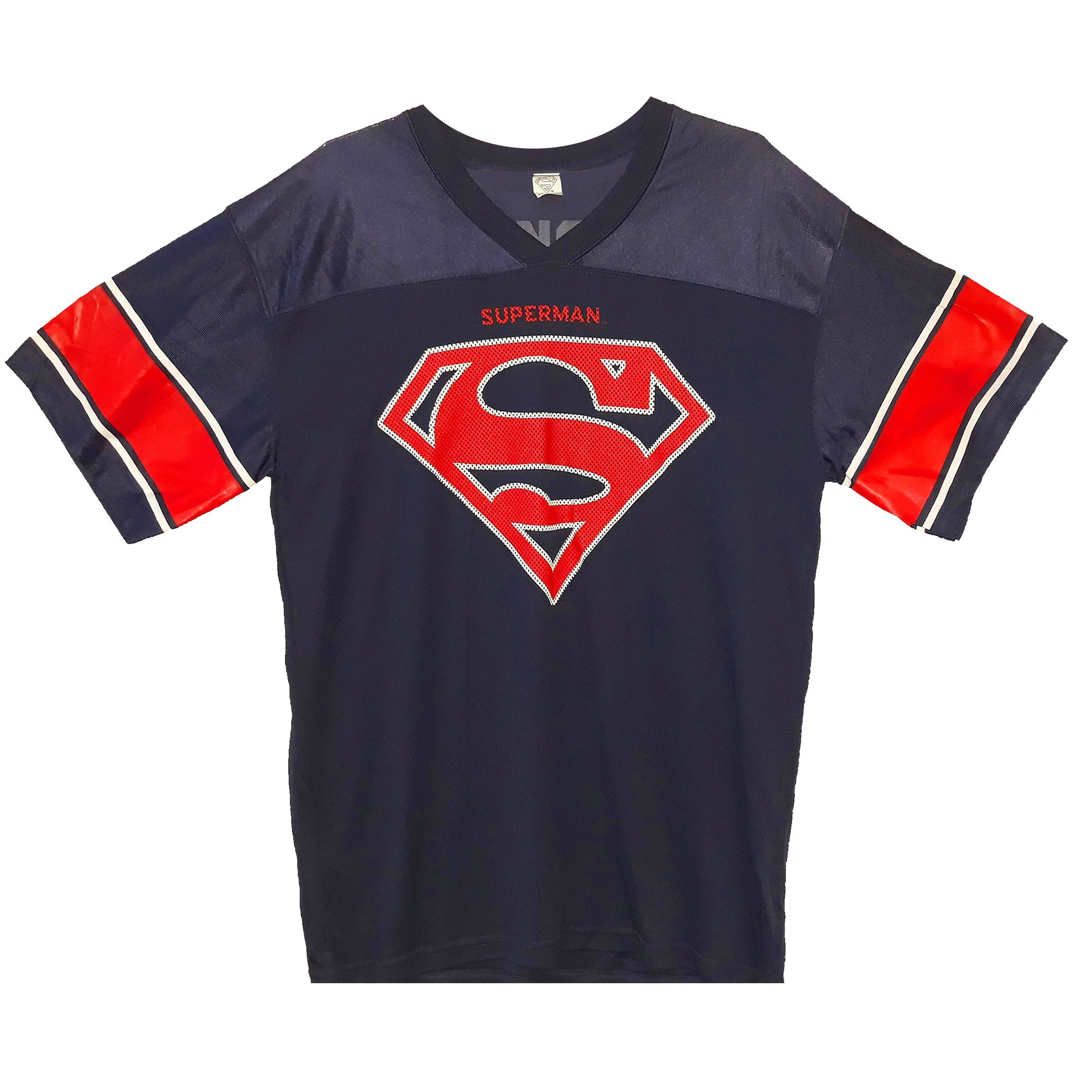 Superman Logo Men's Blue Football Jersey