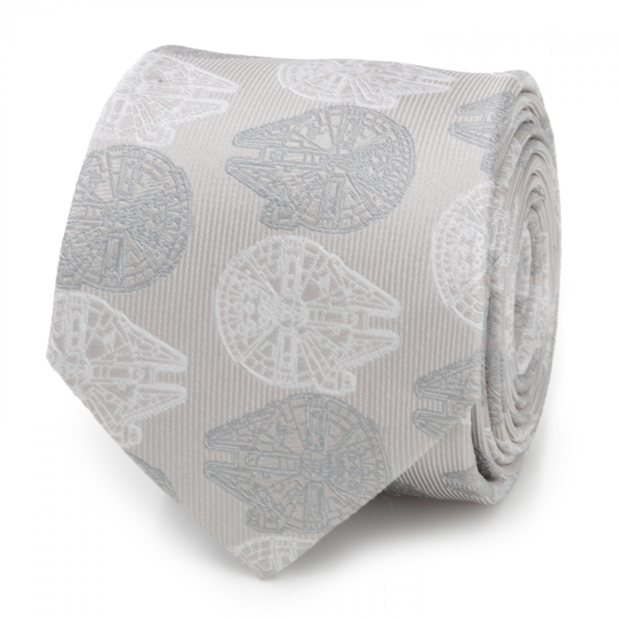 Star Wars Falcon Gray Men's Silk Tie