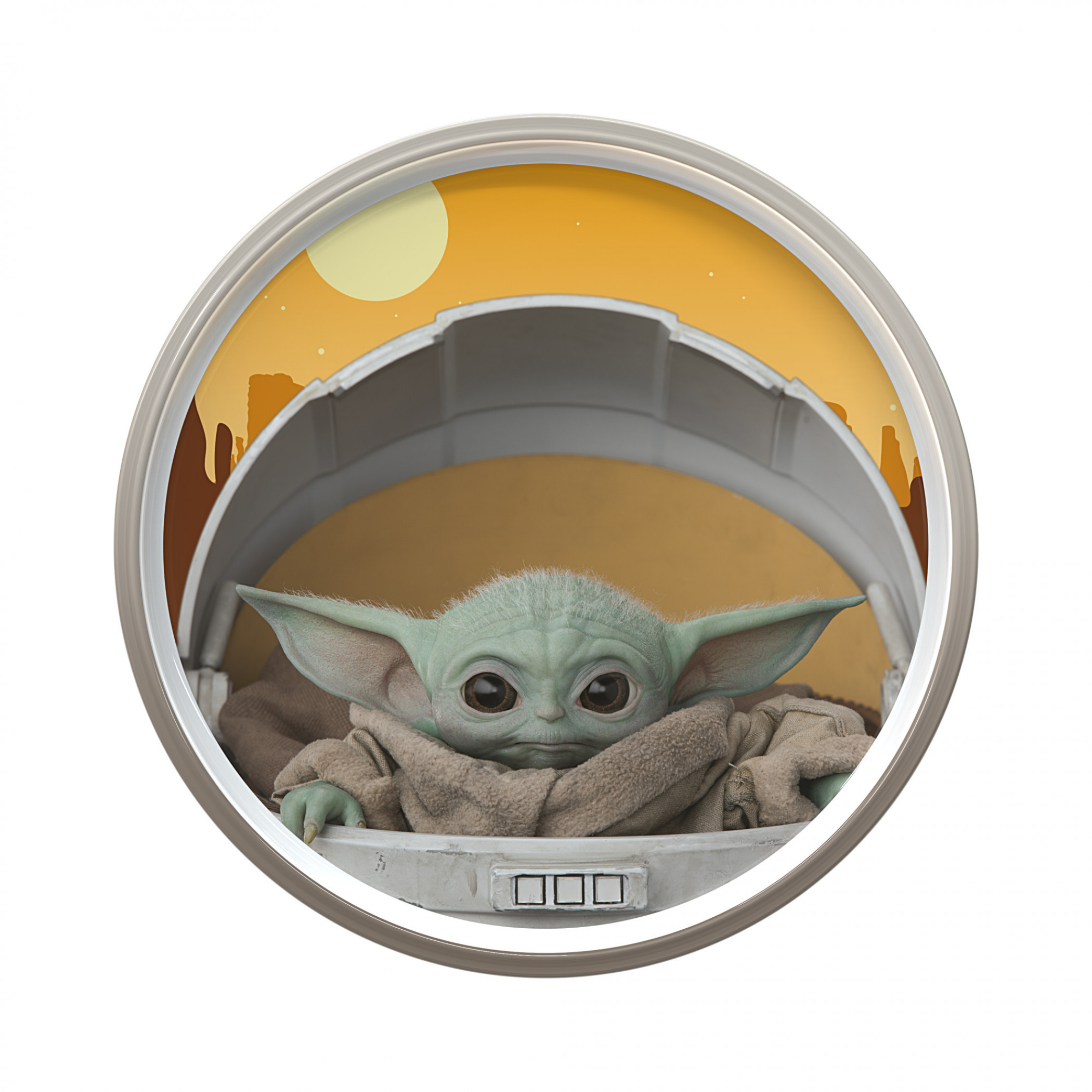 """Star Wars The Mandalorian The Child 8"""" Plate with Rim"""