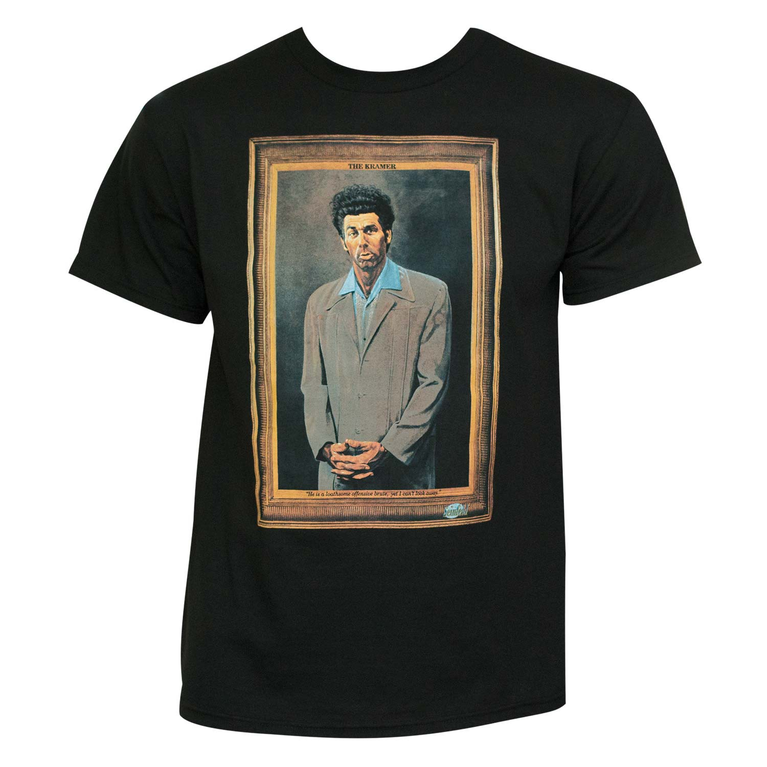 Seinfeld Kramer Painting Men's Black Graphic T-Shirt