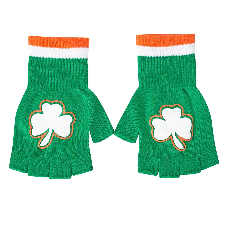 St. Patrick's Day Fingerless Shamrock Gloves