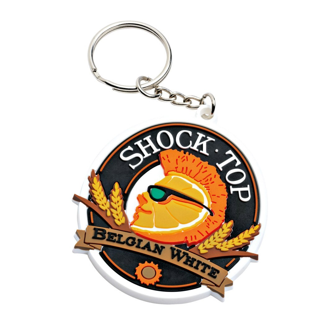 Shock Top Rubber Belgian White Keychain