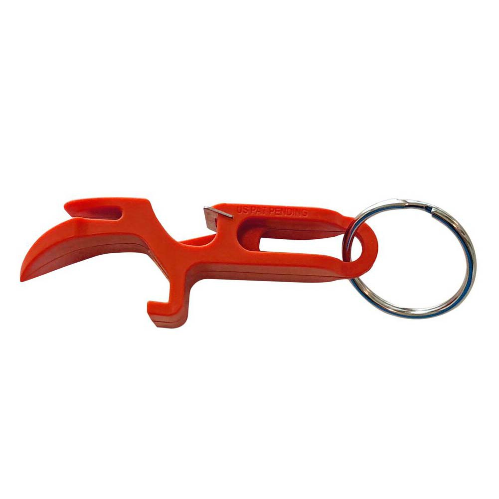 Beer Shotgunning Orange Bottle Opener Keychain