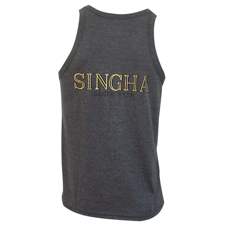 Singha Beer Lion Logo Gray Tank Top