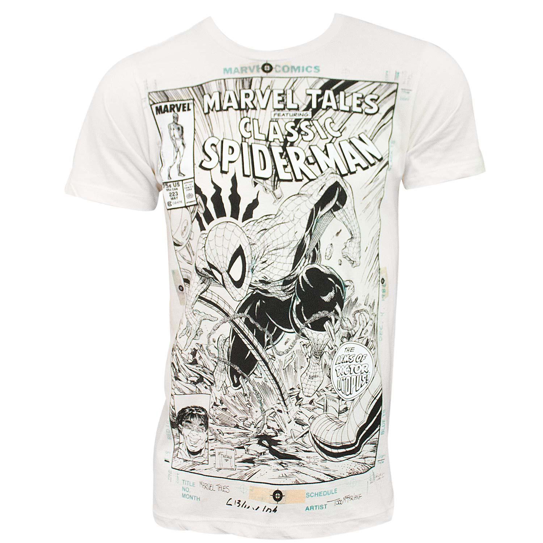 Spider-Man Comic Cover Men's Off-White T-Shirt