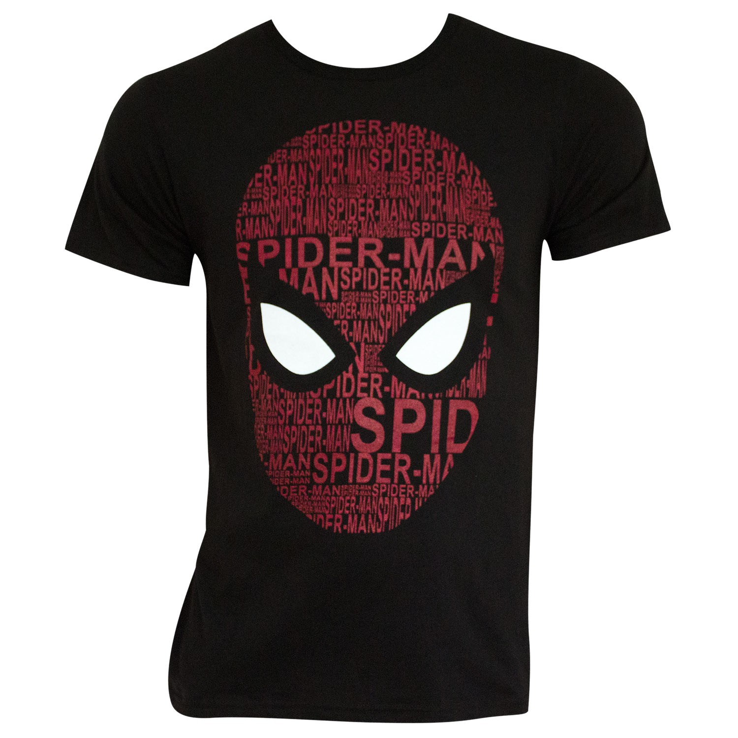 Spider-Man Homecoming Men's Black Word Cloud T-Shirt