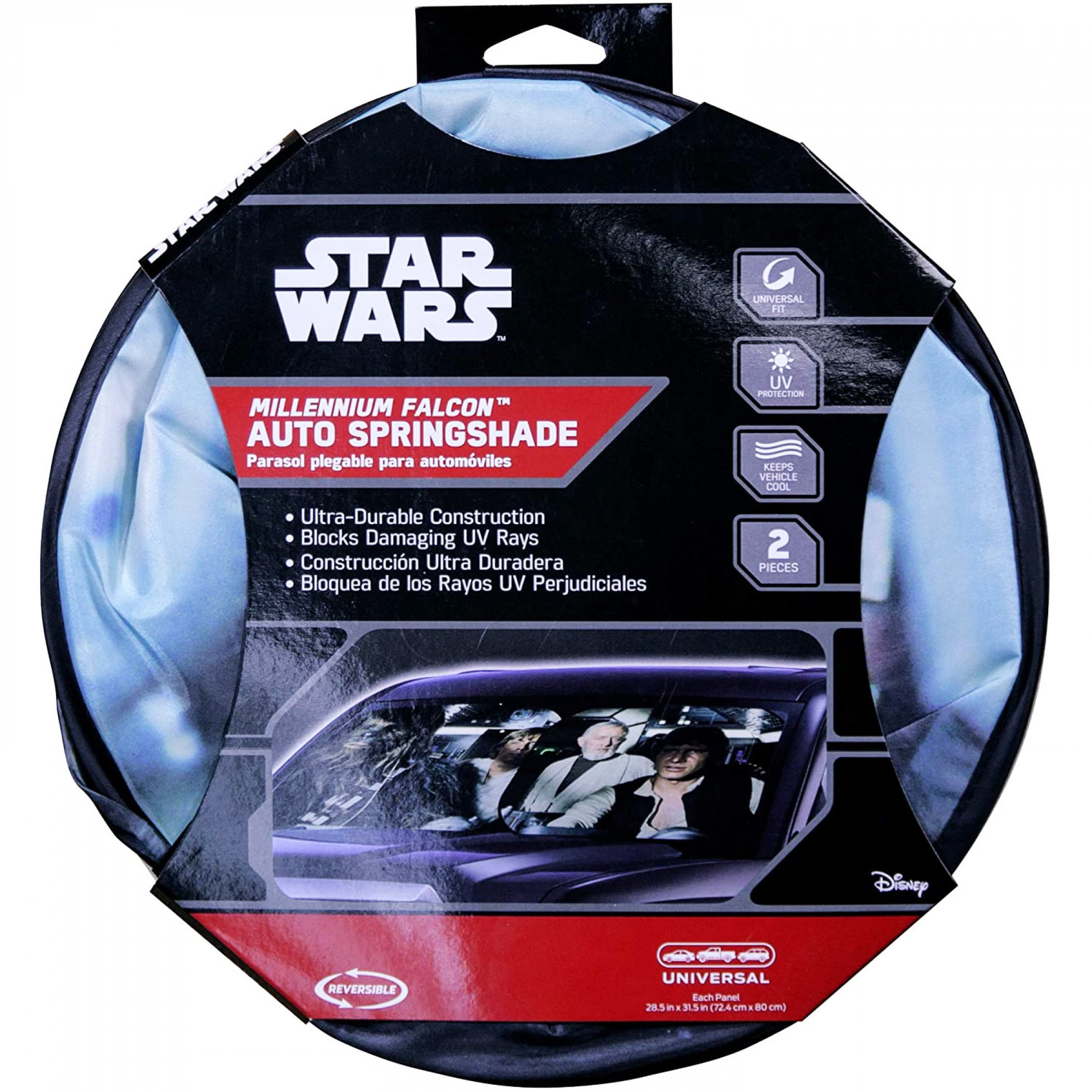 Star Wars Millennium Falcon Cockpit Springshade Car Windshield Sunshade