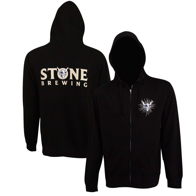 Stone Brewing Text Logo Black Men's Hoodie