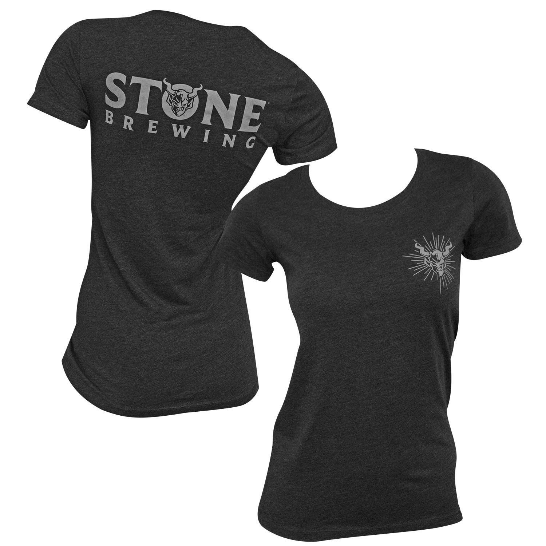 Stone Brewing Back Logo Heather Black Women's T-Shirt