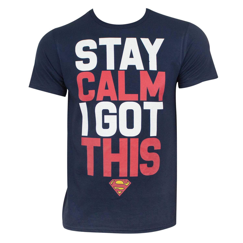 Superman Stay Calm Tee Shirt