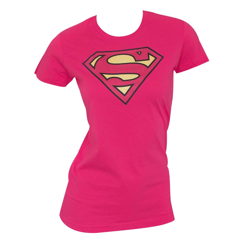 Superman Logo Women's Pink T-Shirt