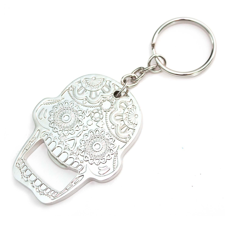 Sugar Candy Skull Bottle Opener Keychain