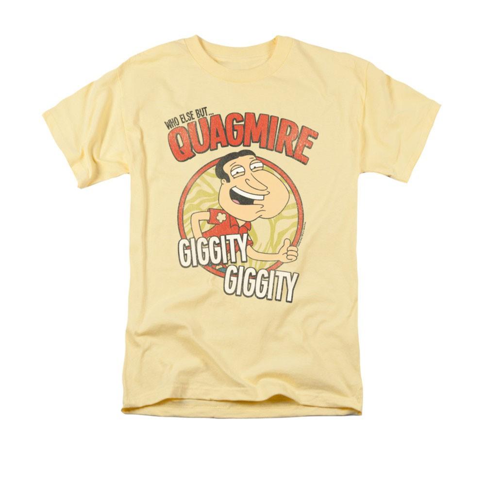 Family Guy Quagmire Giggity Yellow Tee Shirt