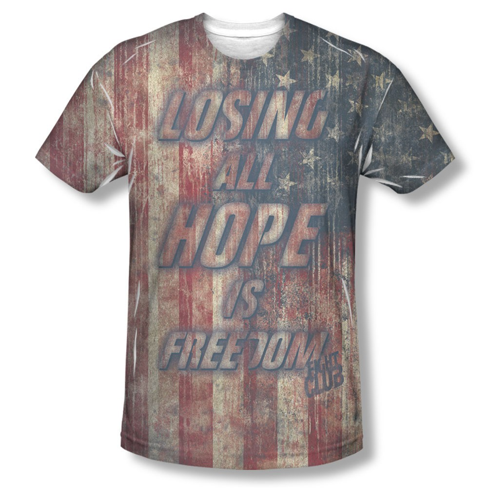 Fight Club Losing All Hope Sublimation T-Shirt
