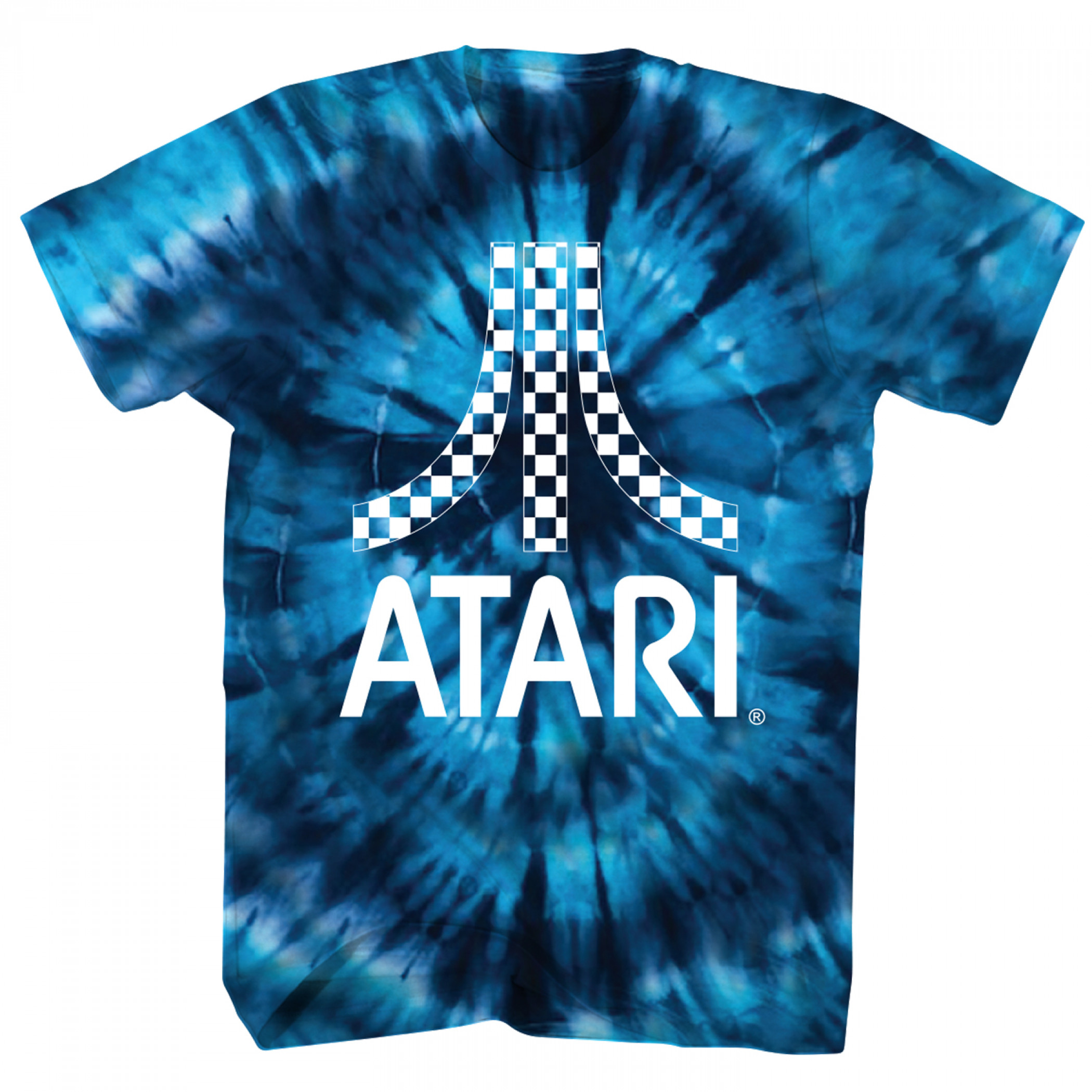 Atari Blue Tie Dyed T-Shirt