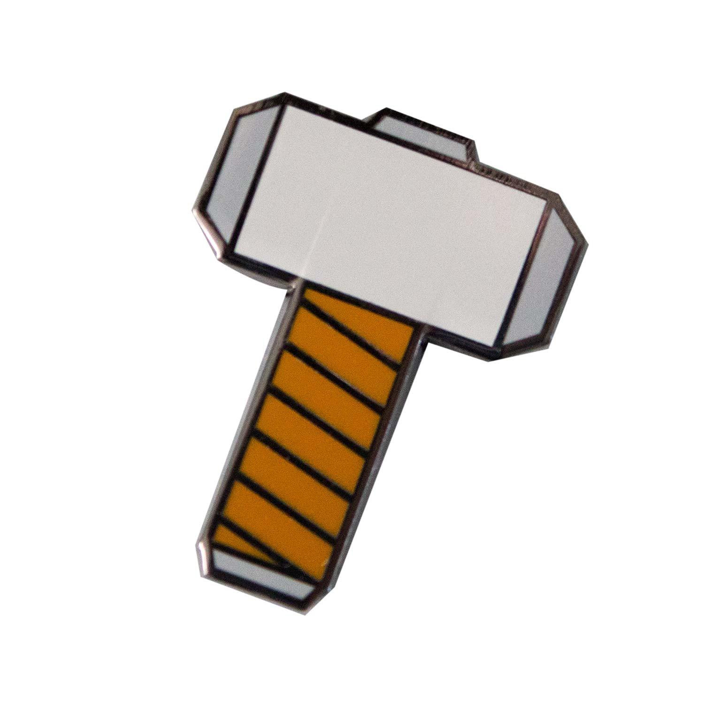 Thor Hammer Enamel Lapel Pin