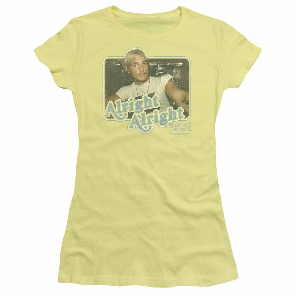 Dazed And Confused Alright Alright Yellow Juniors T-Shirt