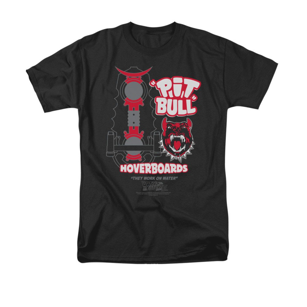 Back To The Future Pit Bull Hoverboards Black Tee Shirt