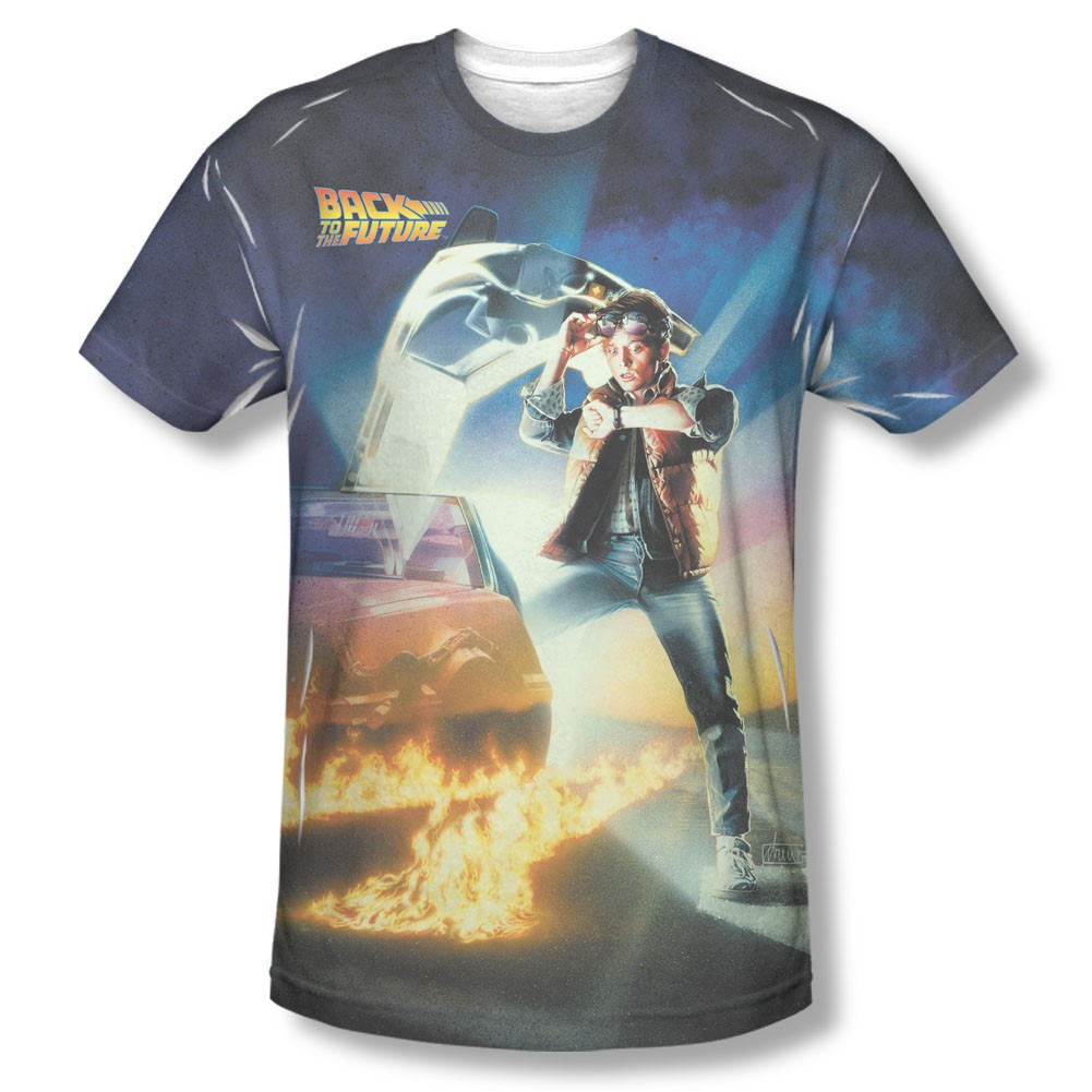 Back To The Future Movie Poster Sublimation T-Shirt