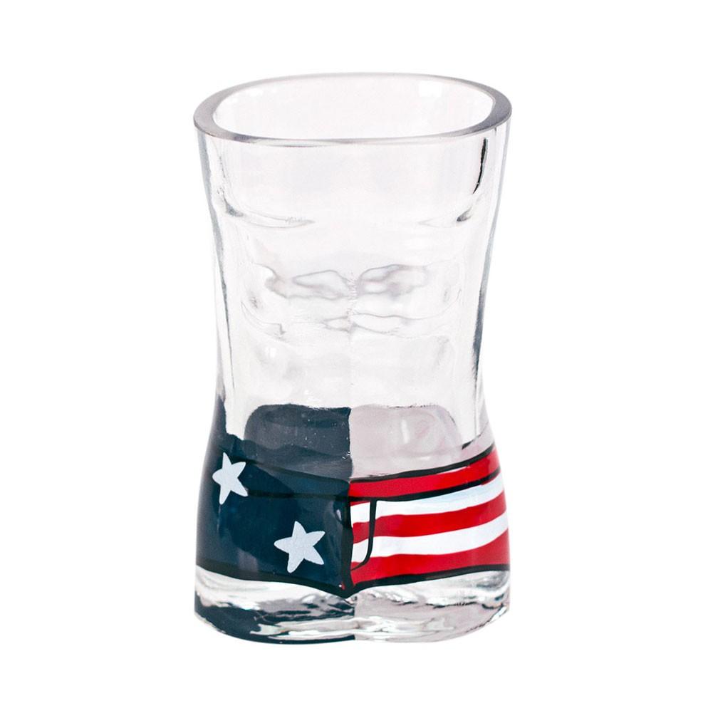 USA Mens Board Shorts Shot Glass