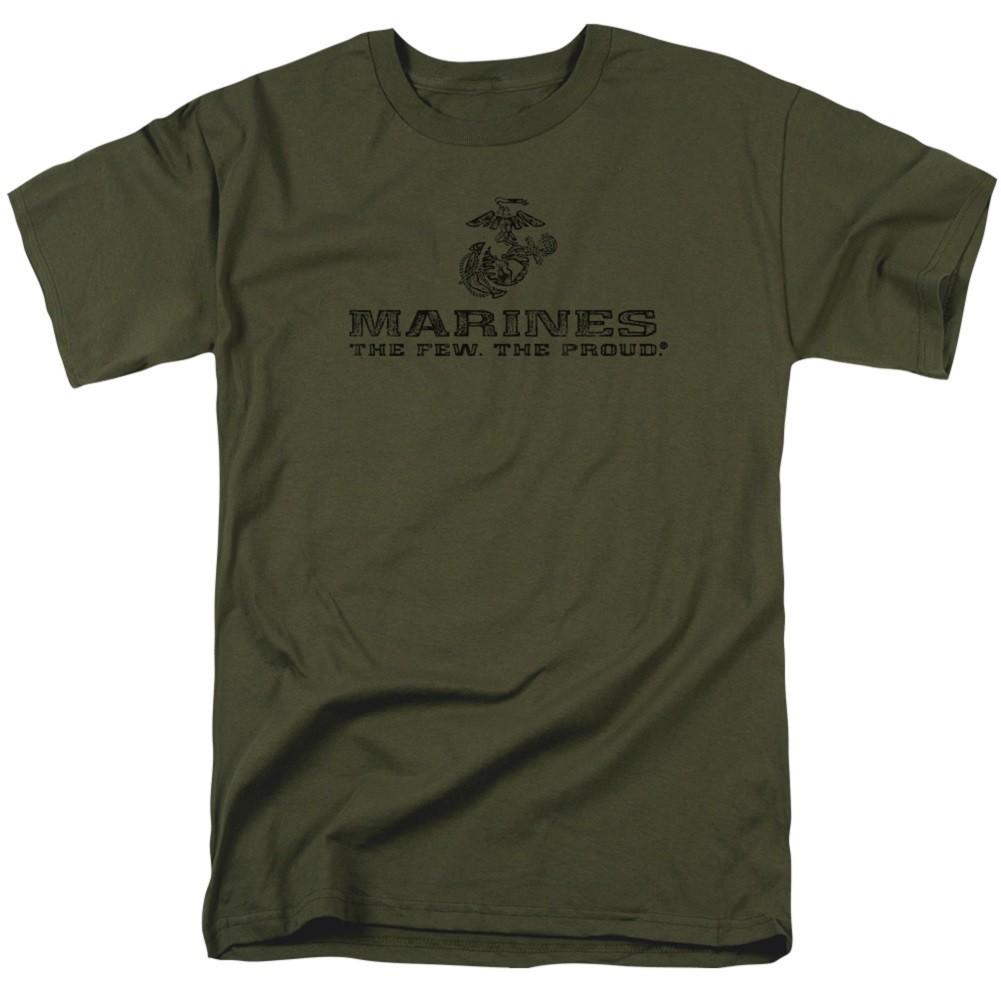 US Marines The Few The Proud Green Tshirt