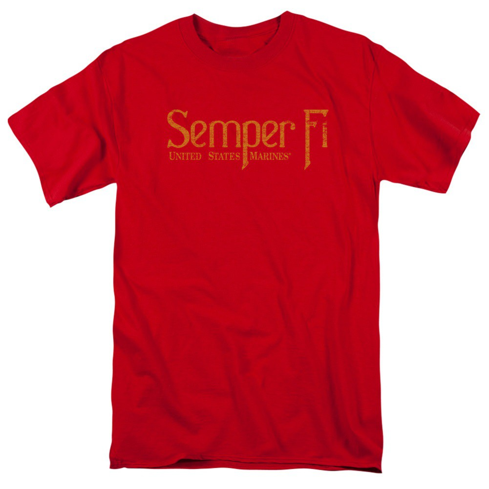 US Marines Semper Fi Red Tshirt