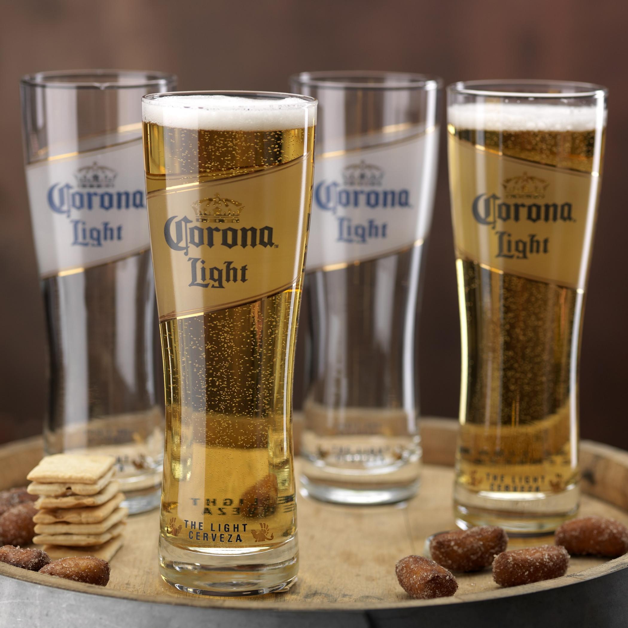 Corona Light Oslo 4-Pack Pint Glass Set