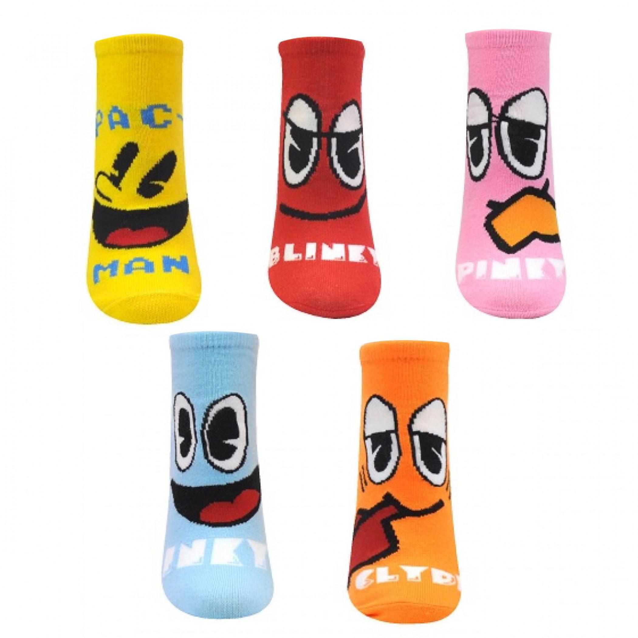 PAC-MAN 5-Pair Pack of Low Cut Socks