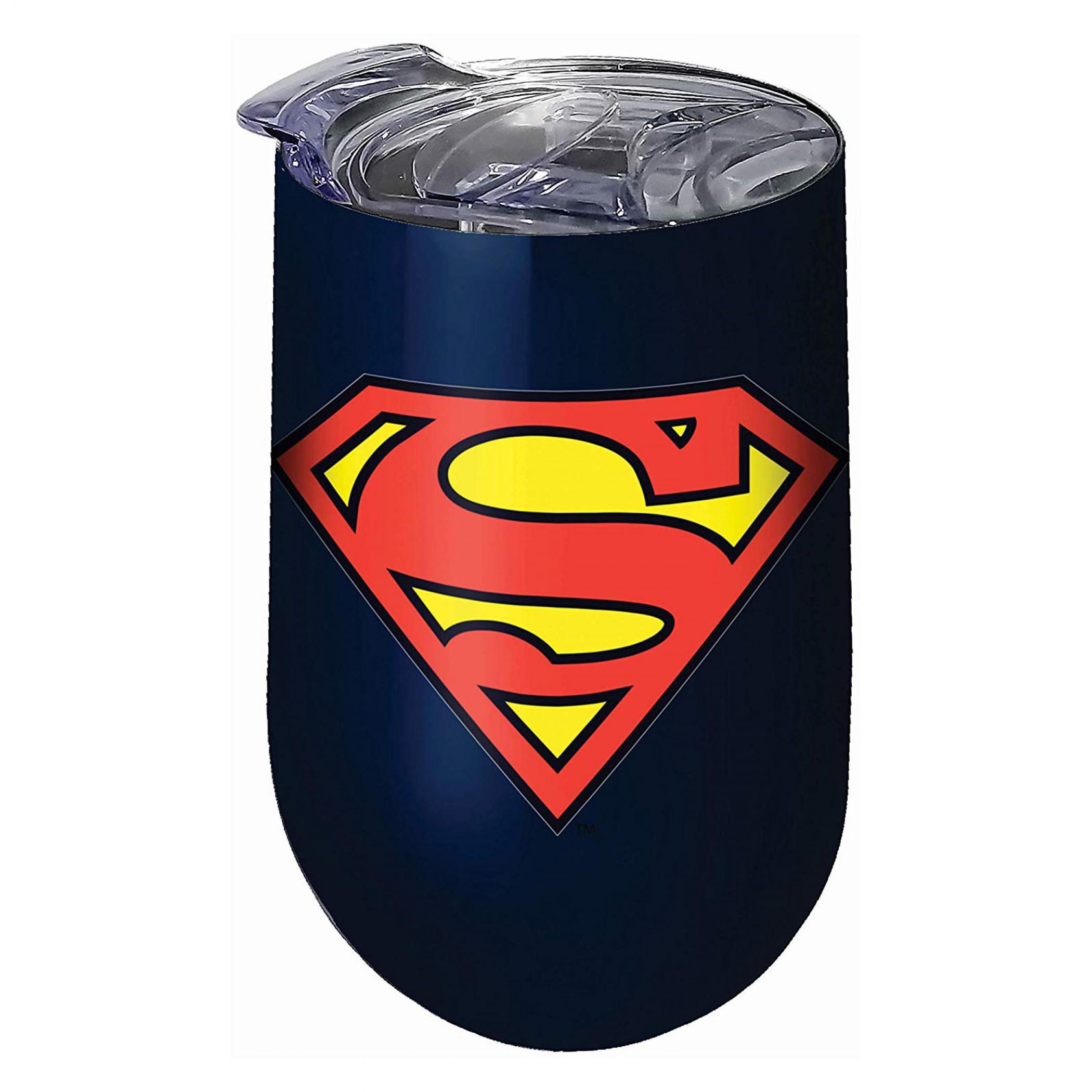 Superman Stainless Steel Wine Tumbler