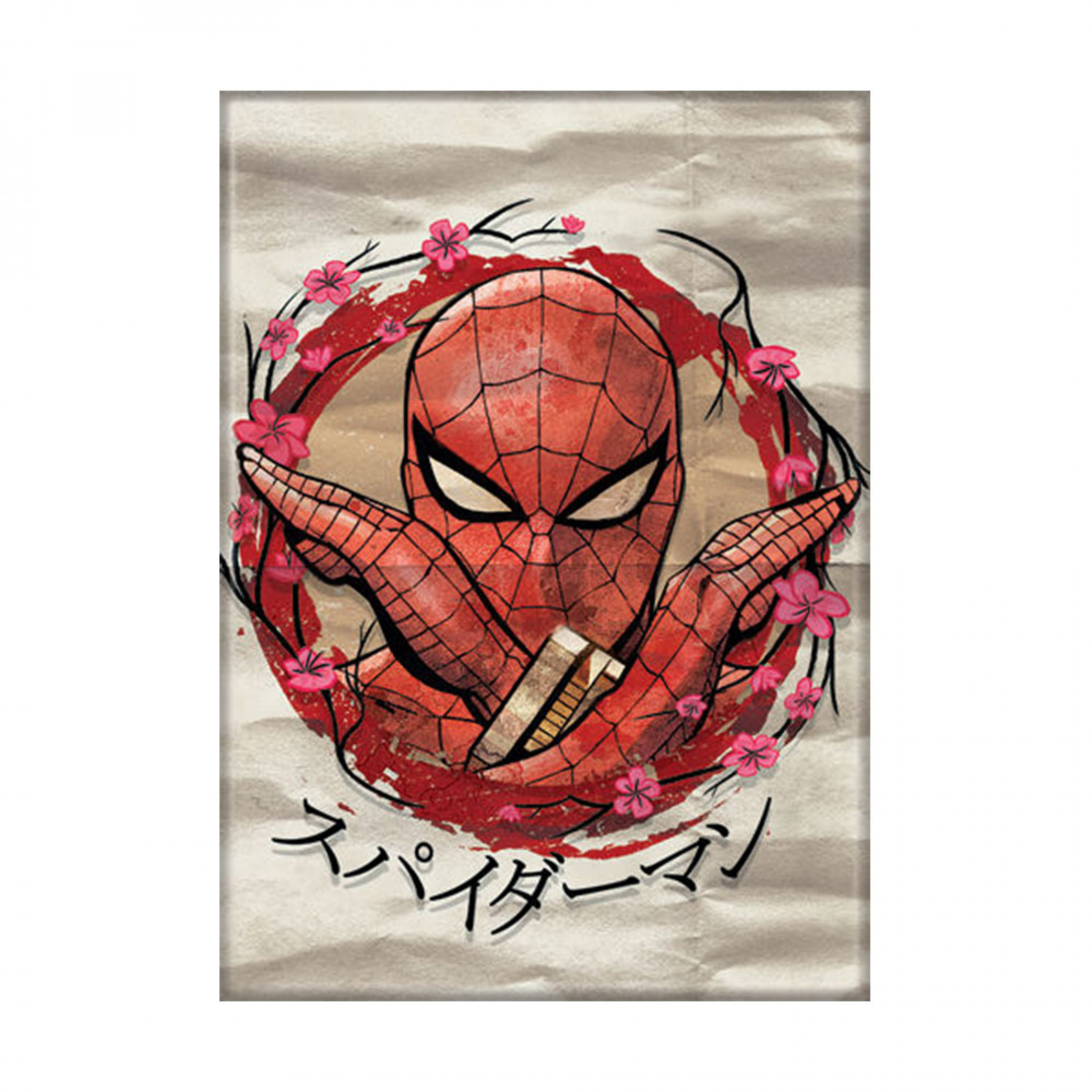 Spider-Man Japanese Text Carded Magnet