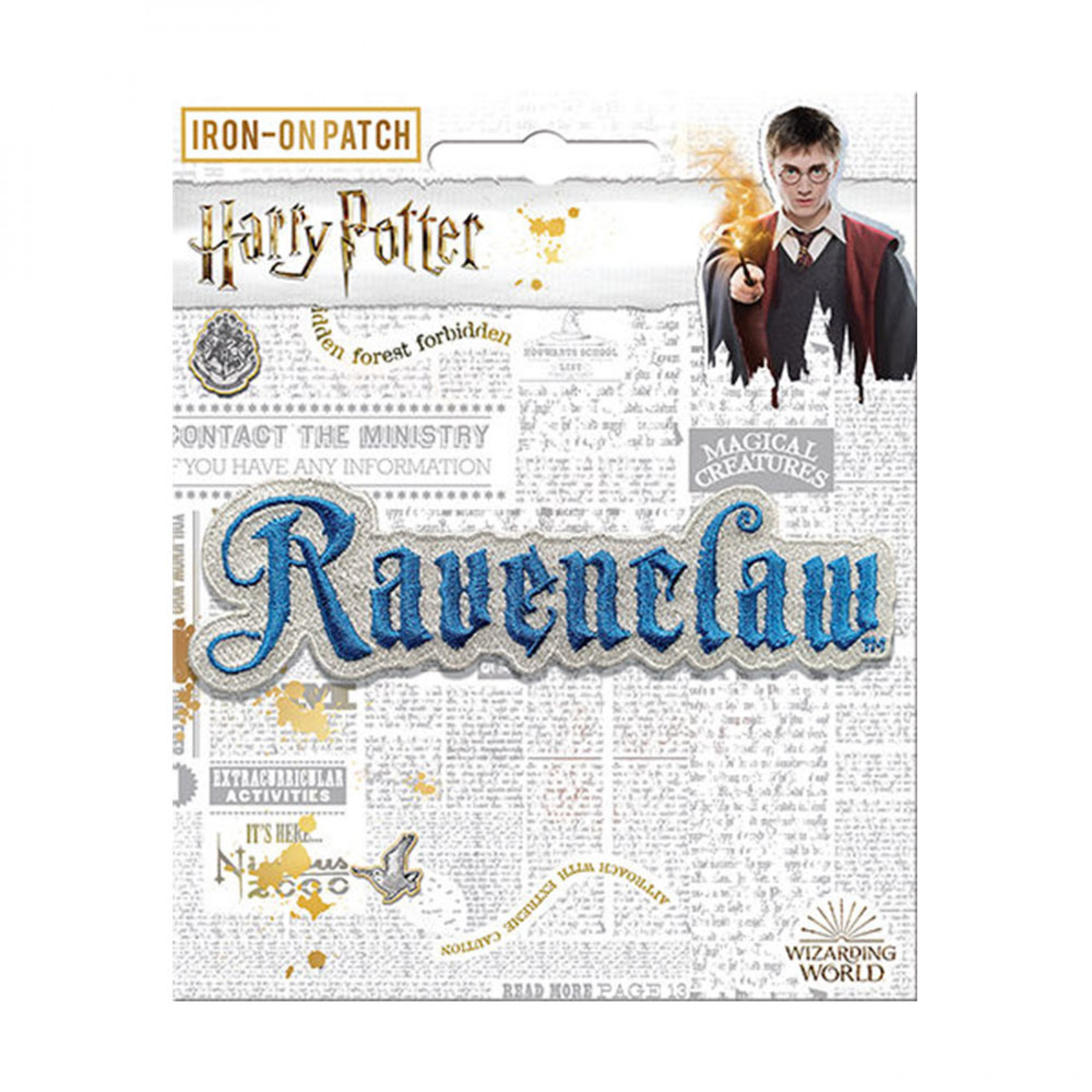 Harry Potter Ravenclaw Text Iron On Patch