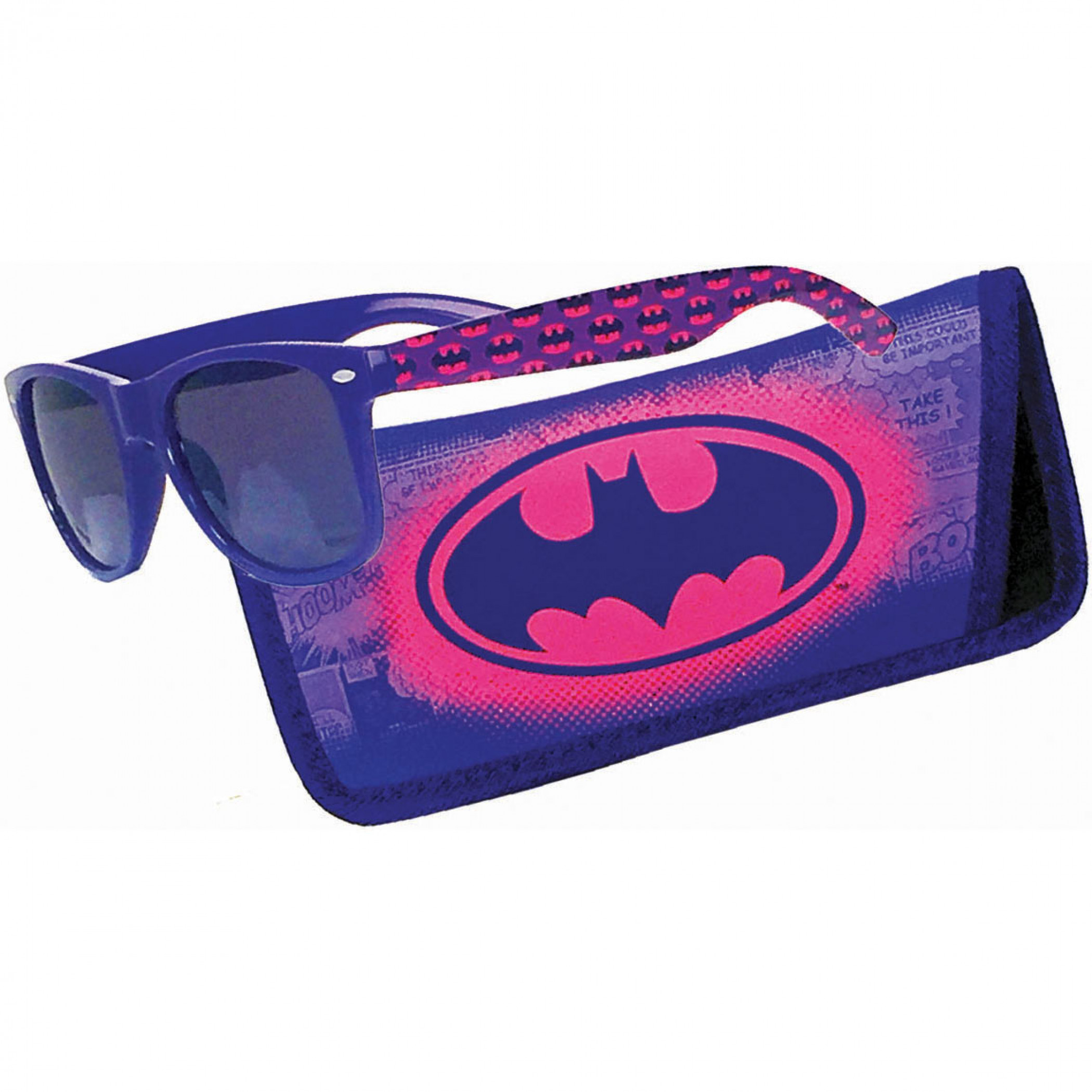 Batman Logo Sunglasses with Pouch