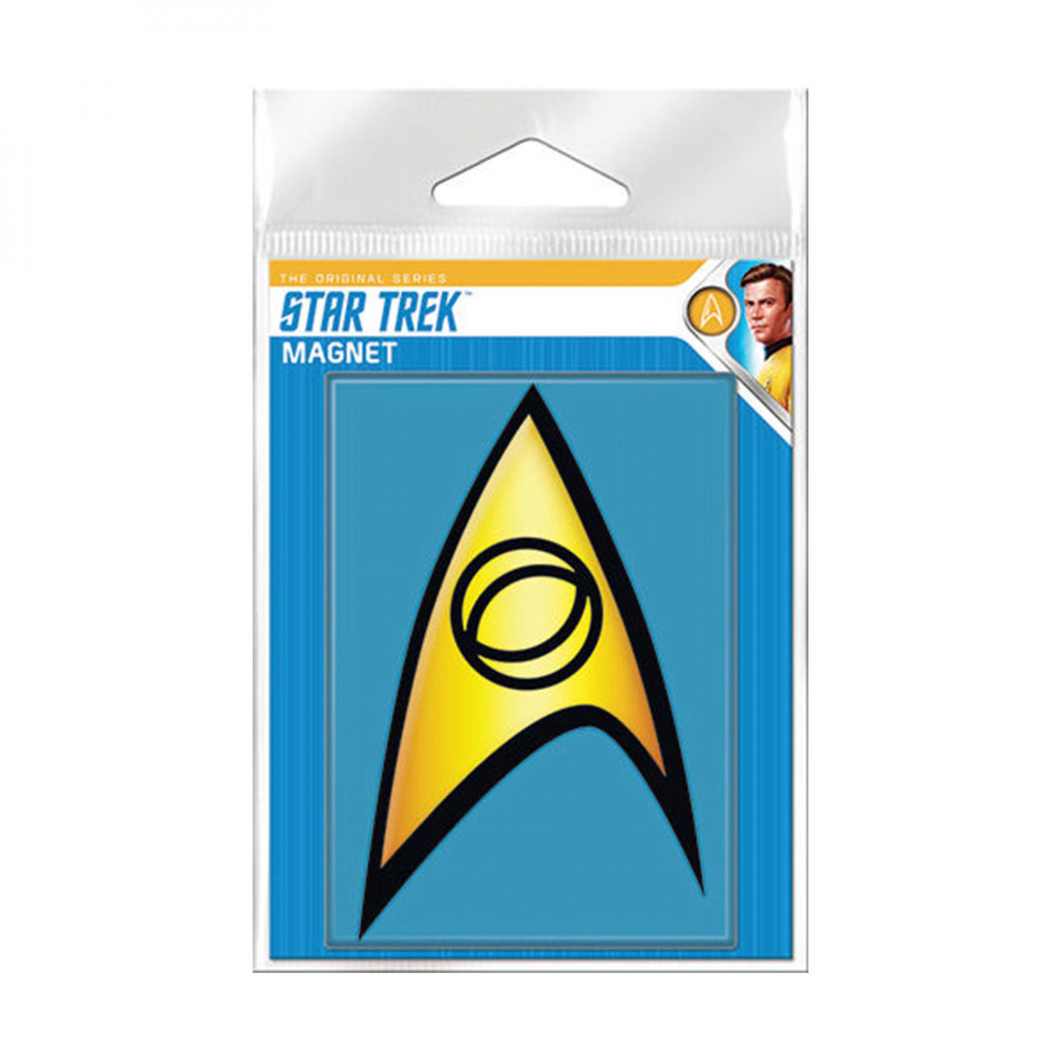 Star Trek Starfleet Science Badge Carded Magnet